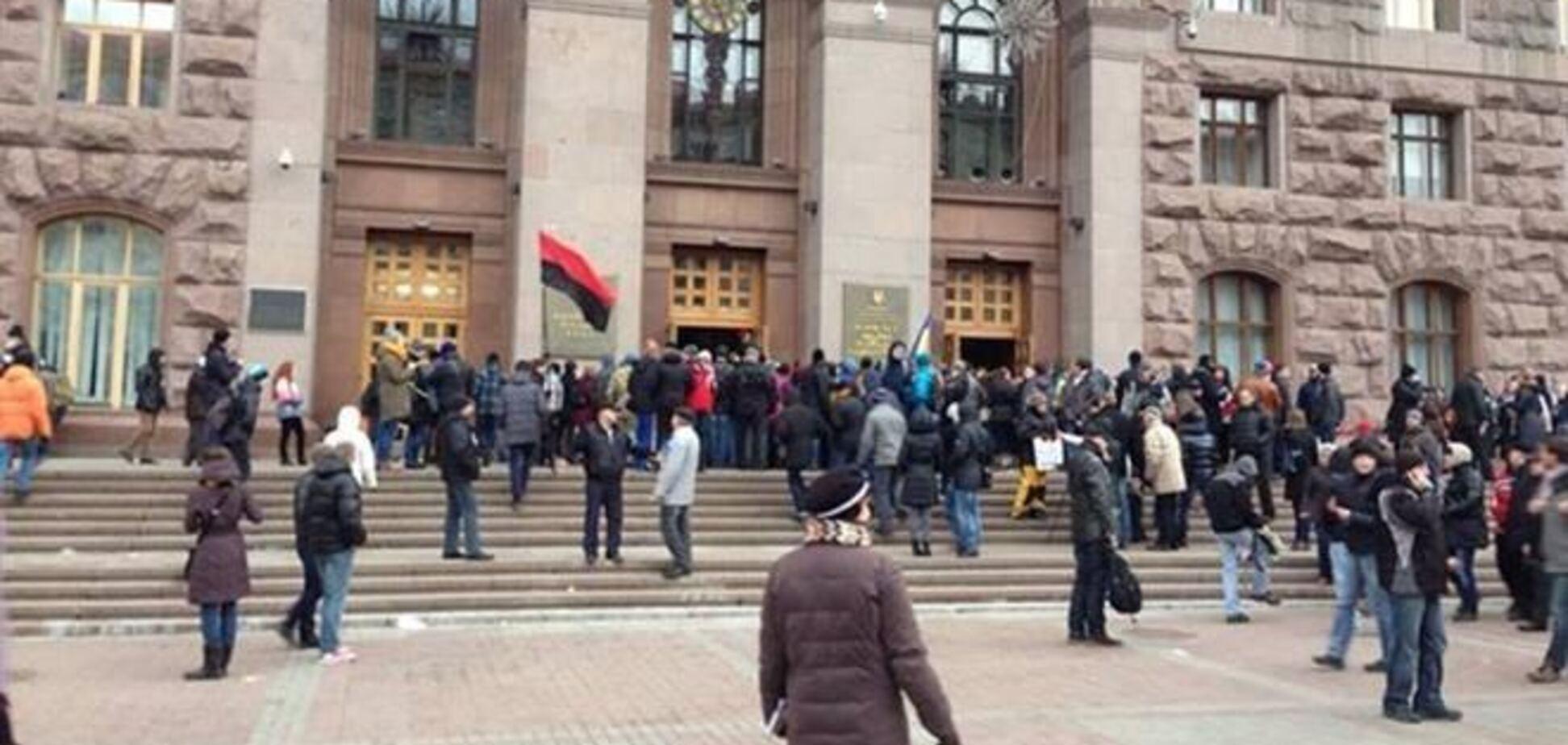 Мітингувальники створили в КМДА революційний штаб