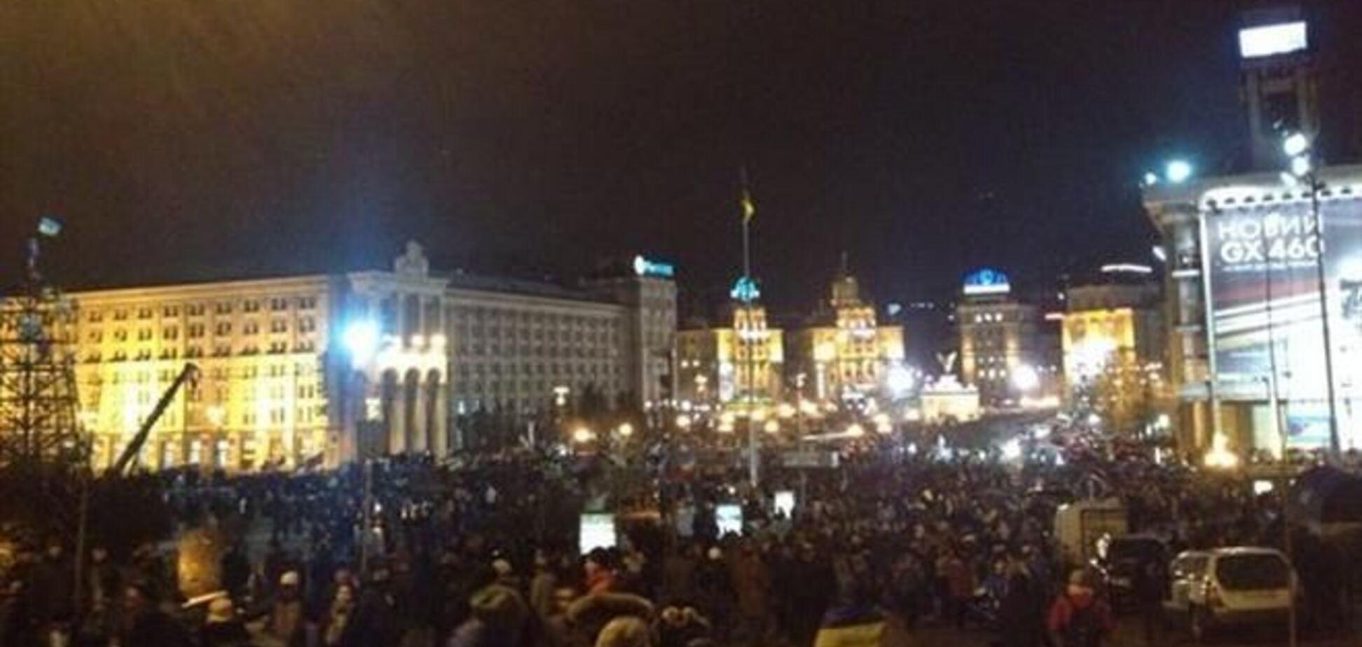 На Майдане готовятся к ночному нападению