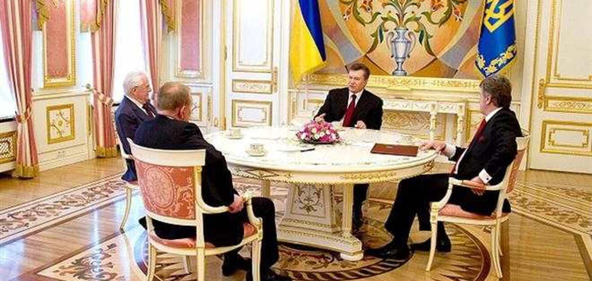 Встреча Януковича с Президентами независимой Украины завершилась