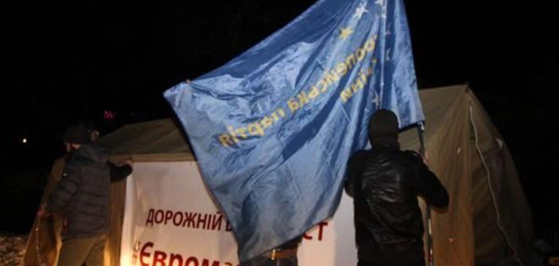На блокпост Евромайдана под Житомиром напали бойцы 'Беркута'