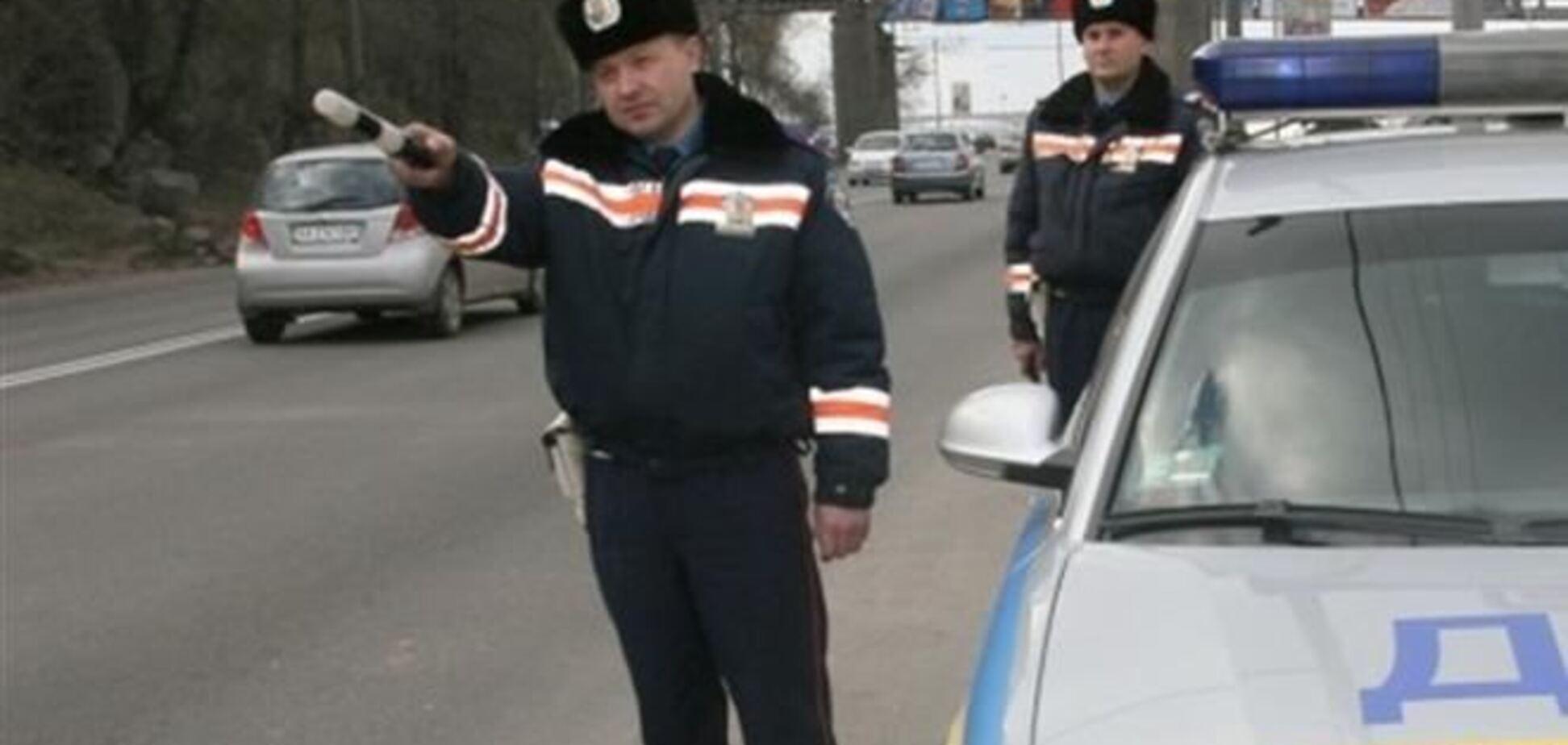 Гаишники не пускают митингующих в Киев