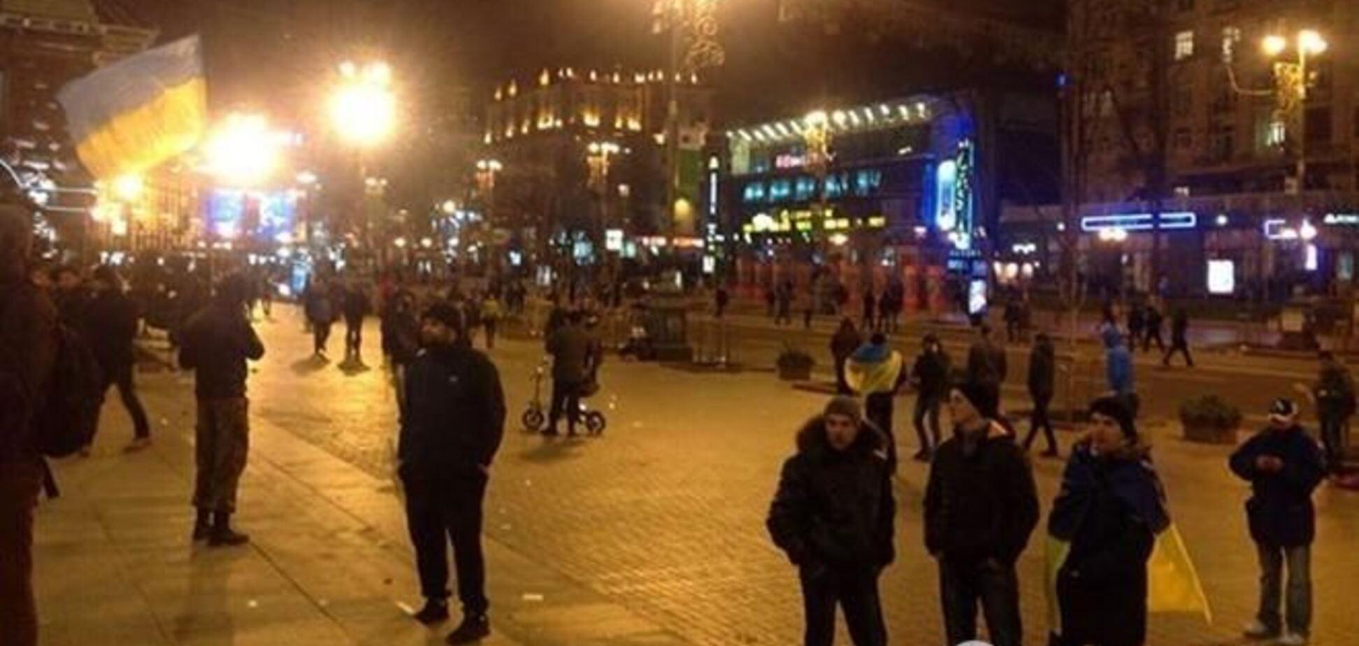 На Майдане Незалежности пока все спокойно