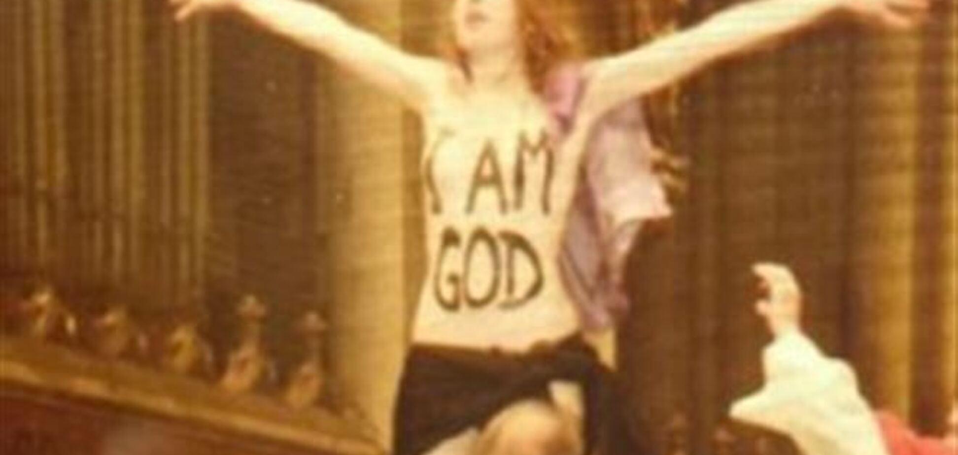 Активистка FEMEN в Кельне поучаствовала в рождественской мессе