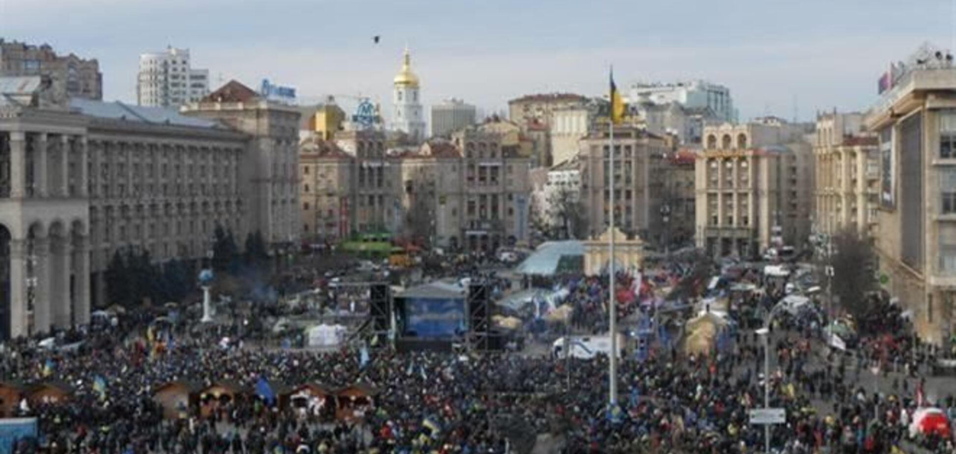 Милиция насчитала 10 тысяч евромайдановцев в Киеве