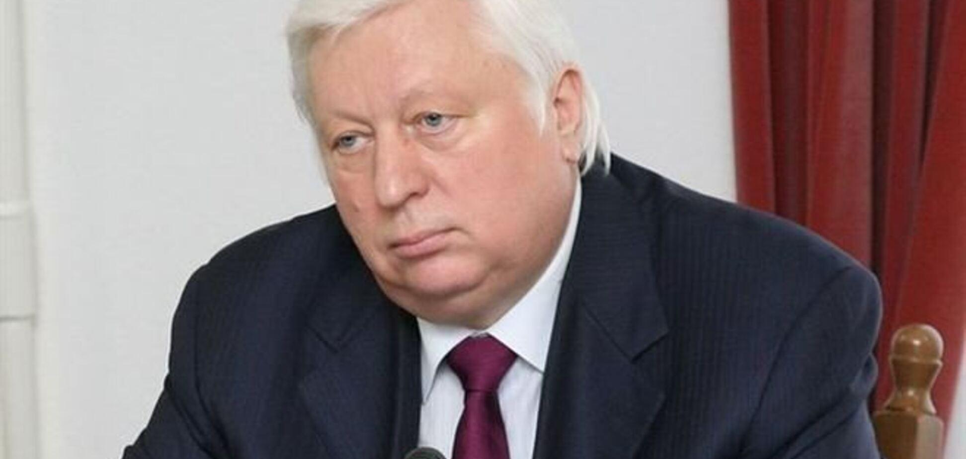 Протестующие сорвали встречу Пшонки с генсеком Совета Европы