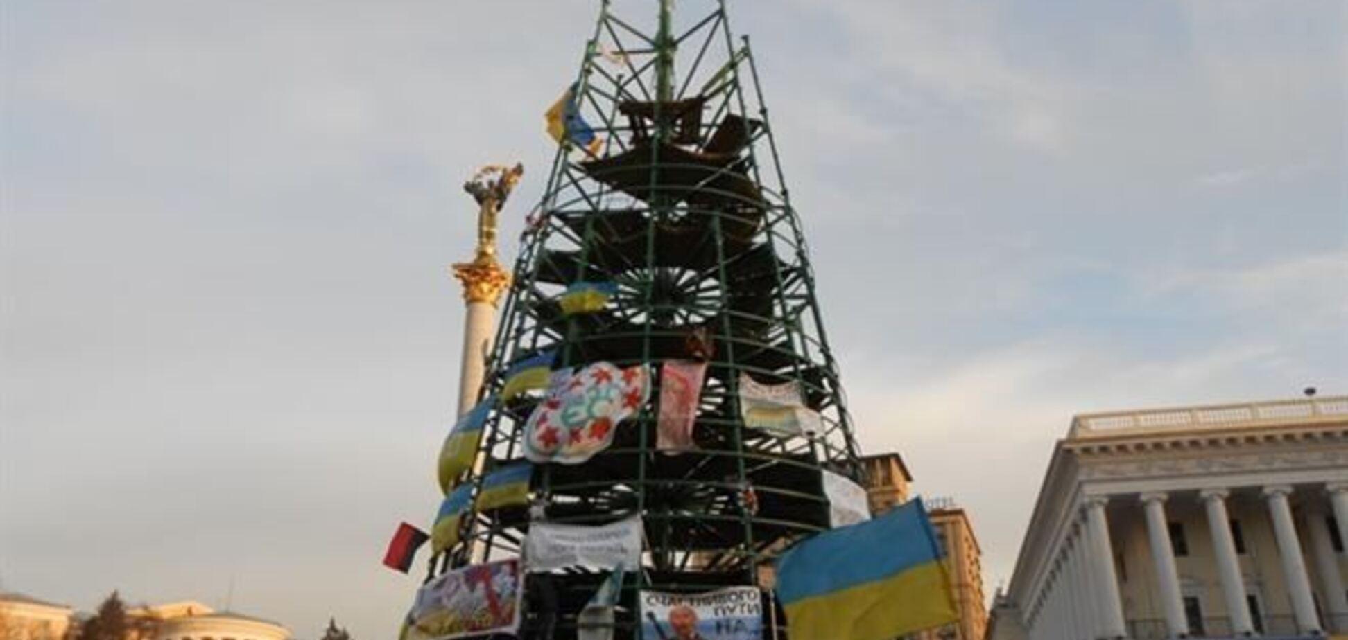 Уничтоженная евромайдановцами елка стоила 3 млн грн