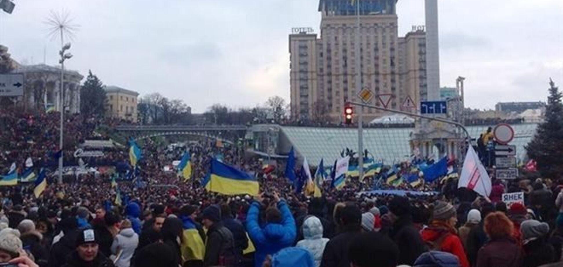 Оппозиция просит у киевлян пополнения счета и теплые вещи для евромайдановцев