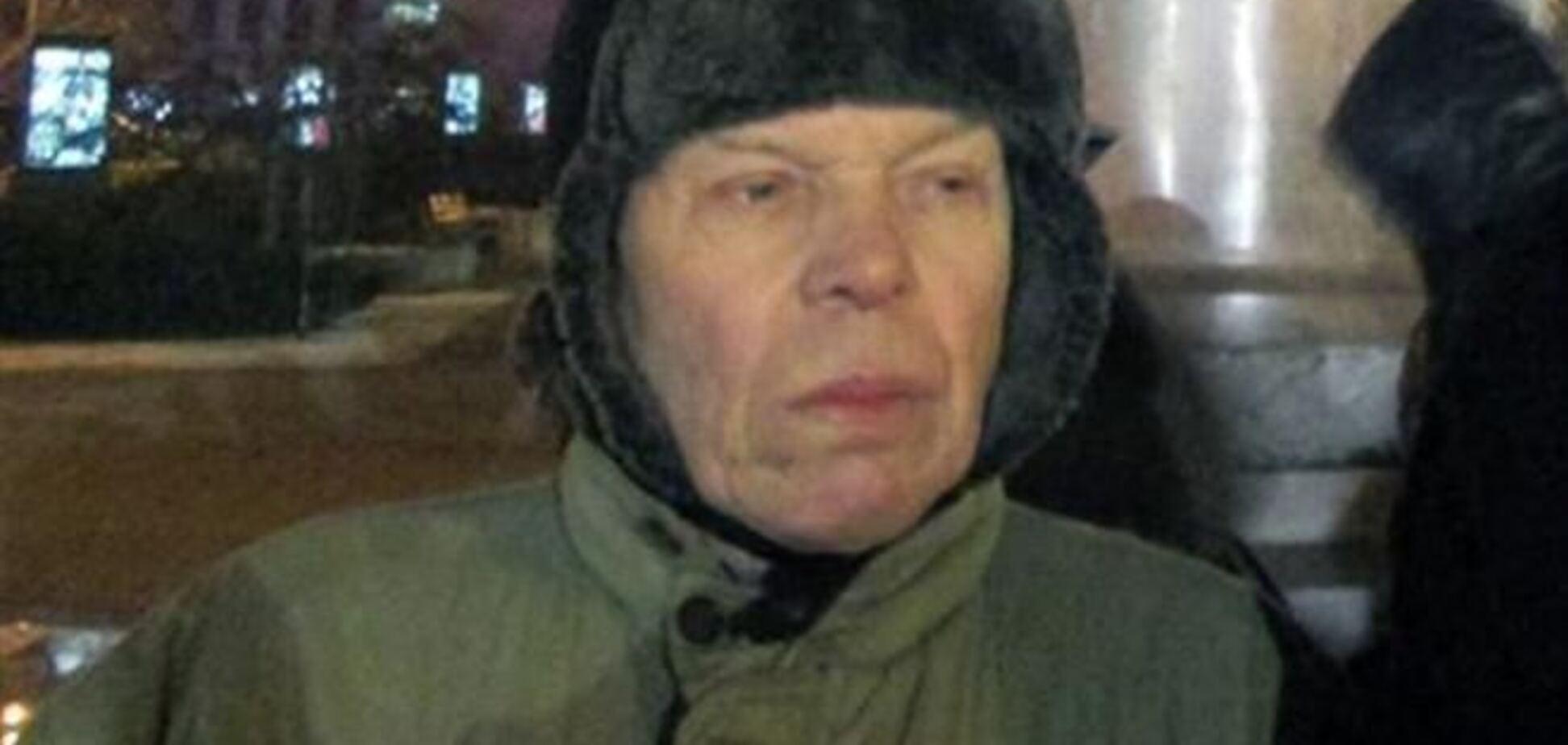 76-летний пенсионер из Донецка принес евромайдановцам 1500 гривен