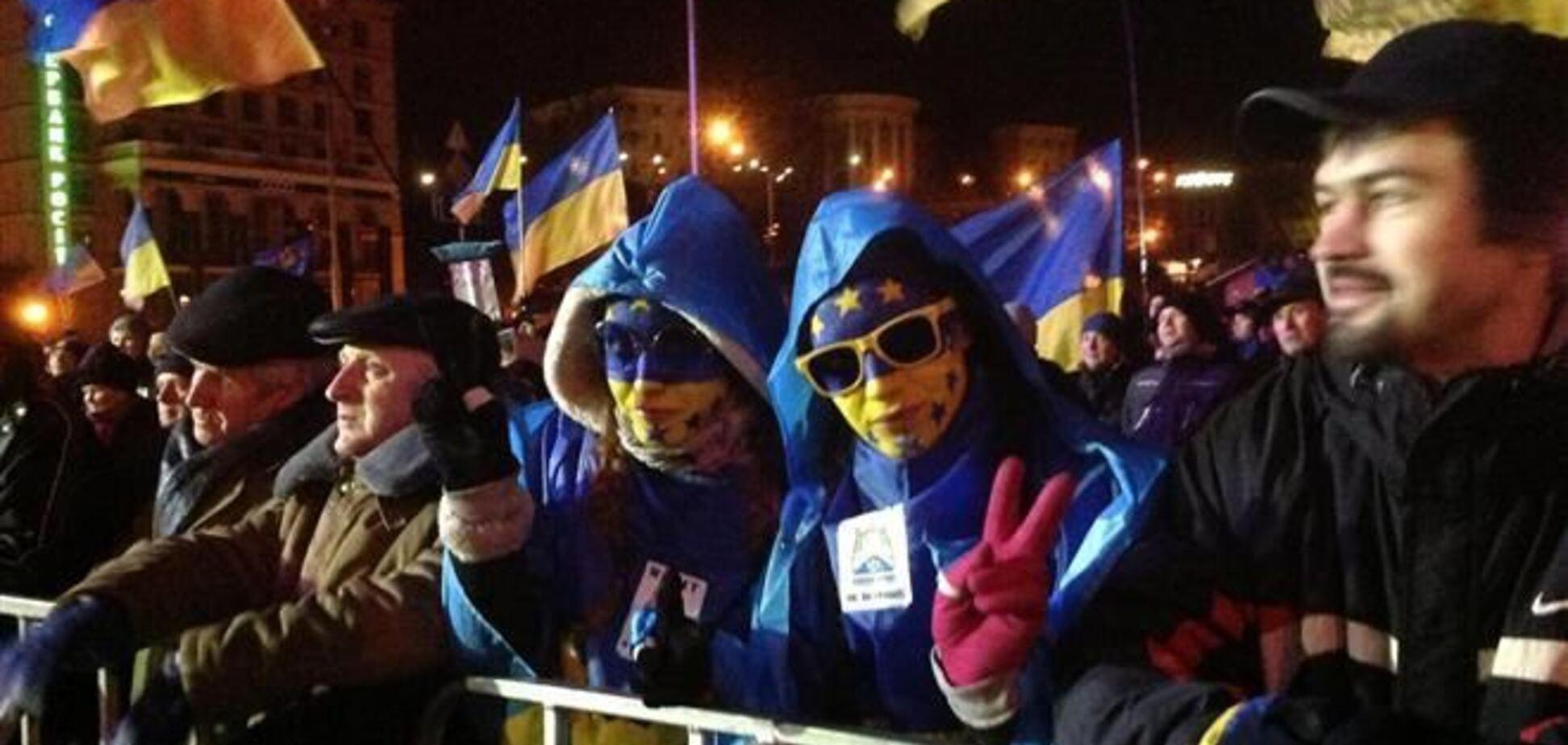 Киевский Евромайдан спокойно пережил еще одну ночь