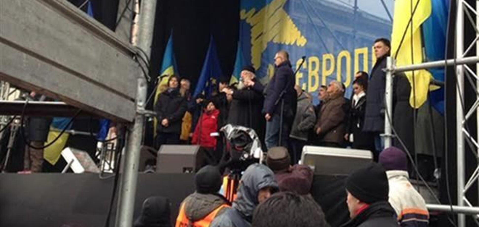 Евромайдан требует обнародовать результаты переговоров Януковича и Путина в Сочи