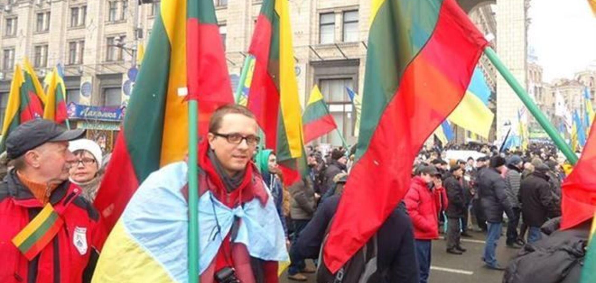 Литовцы вышли на киевский Евромайдан