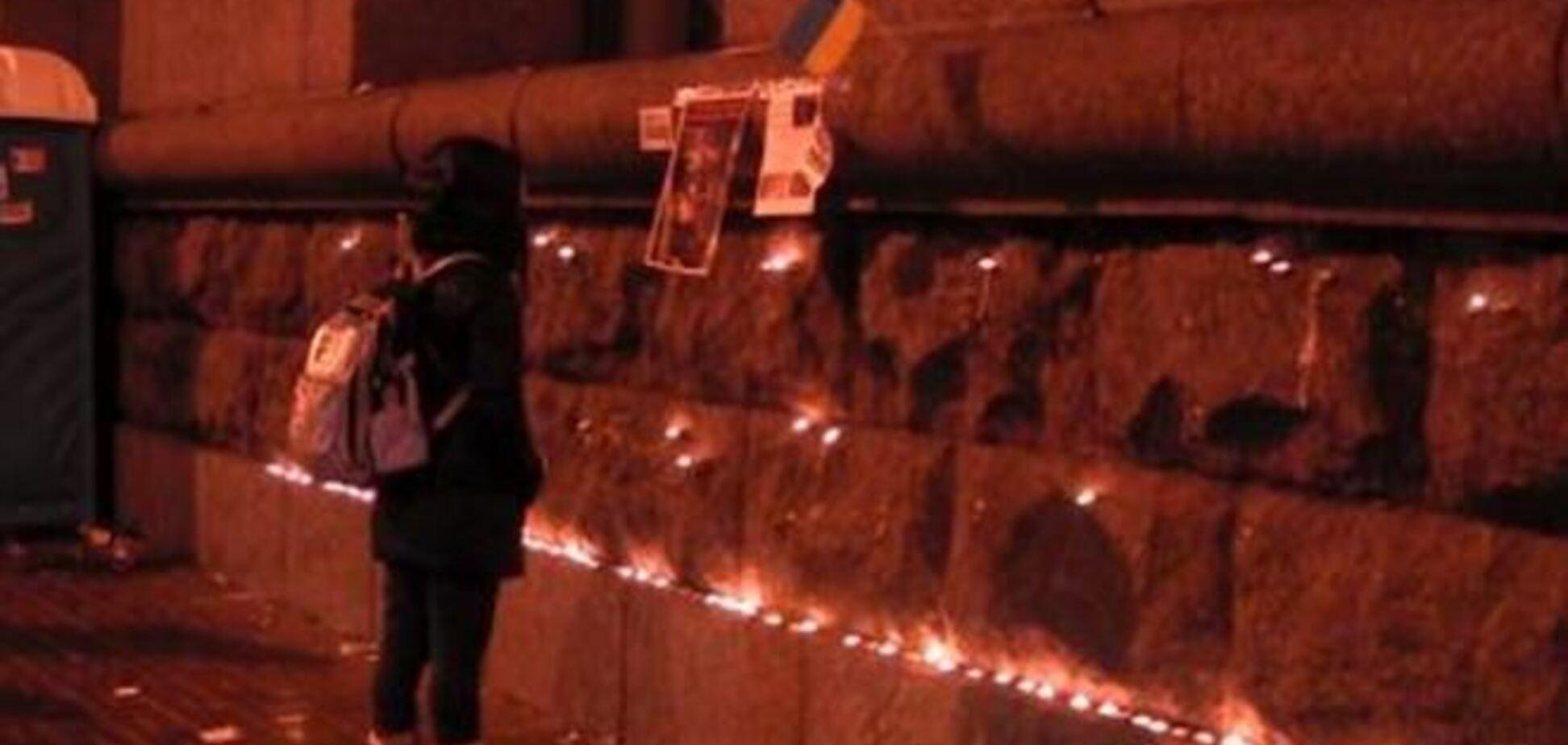 В Киеве создали стену памяти избиения евромайдановцев 'Беркутом'
