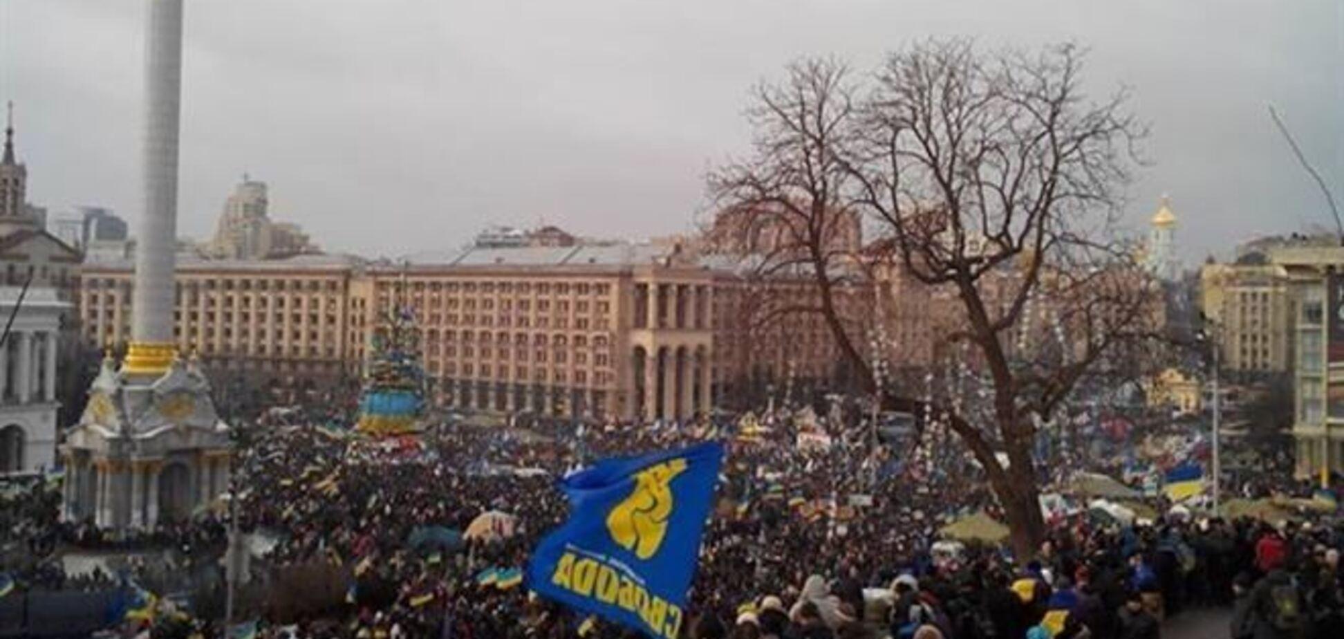 На митинге в центре Киева собралось не более 200 тыс. человек