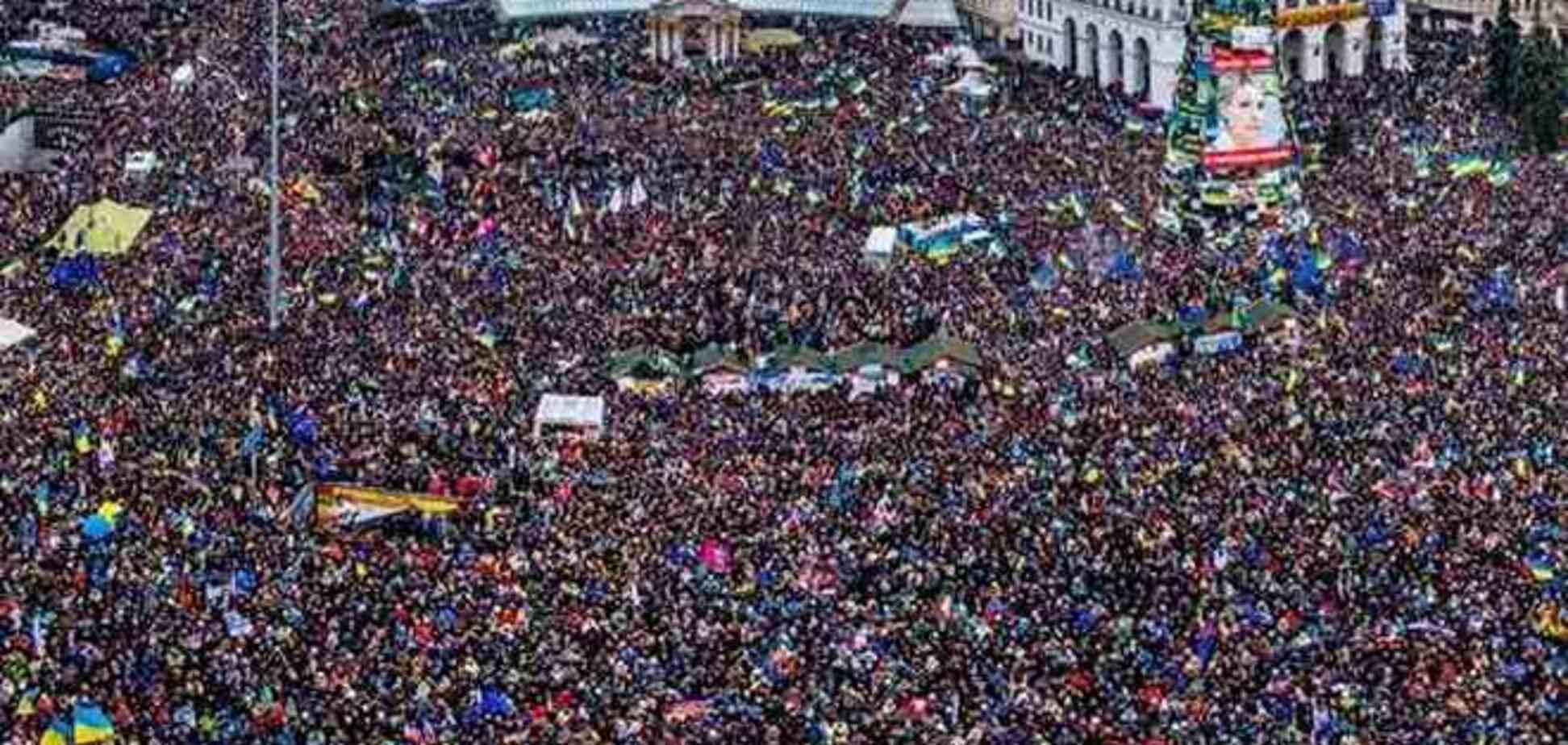 Как выглядел Марш миллиона с воздуха.  Фоторепортаж