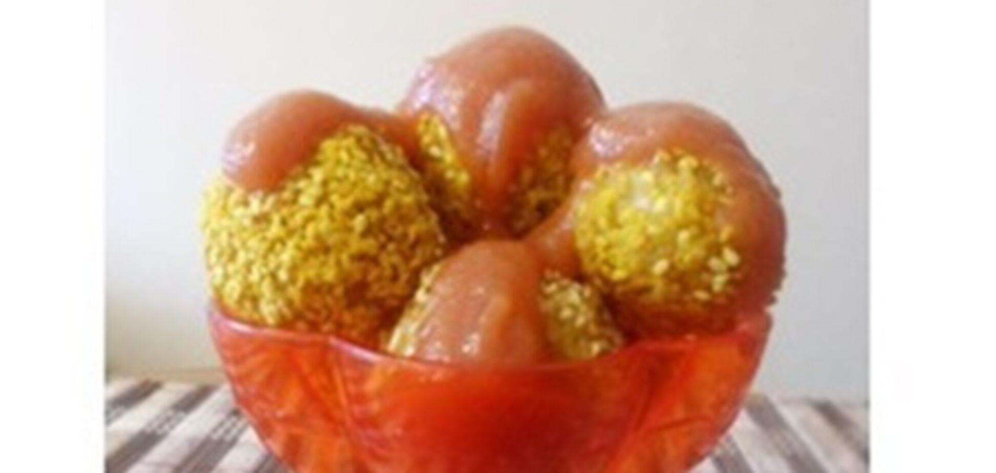 Бомбочки из лимонного риса с оливками