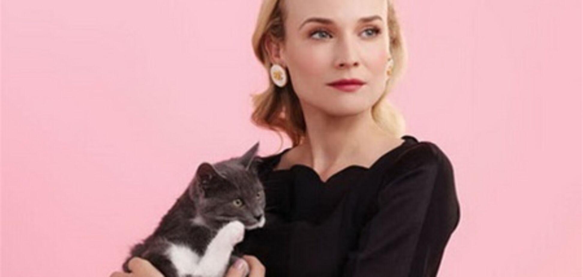 Дайан Крюгер, ретро и кошка