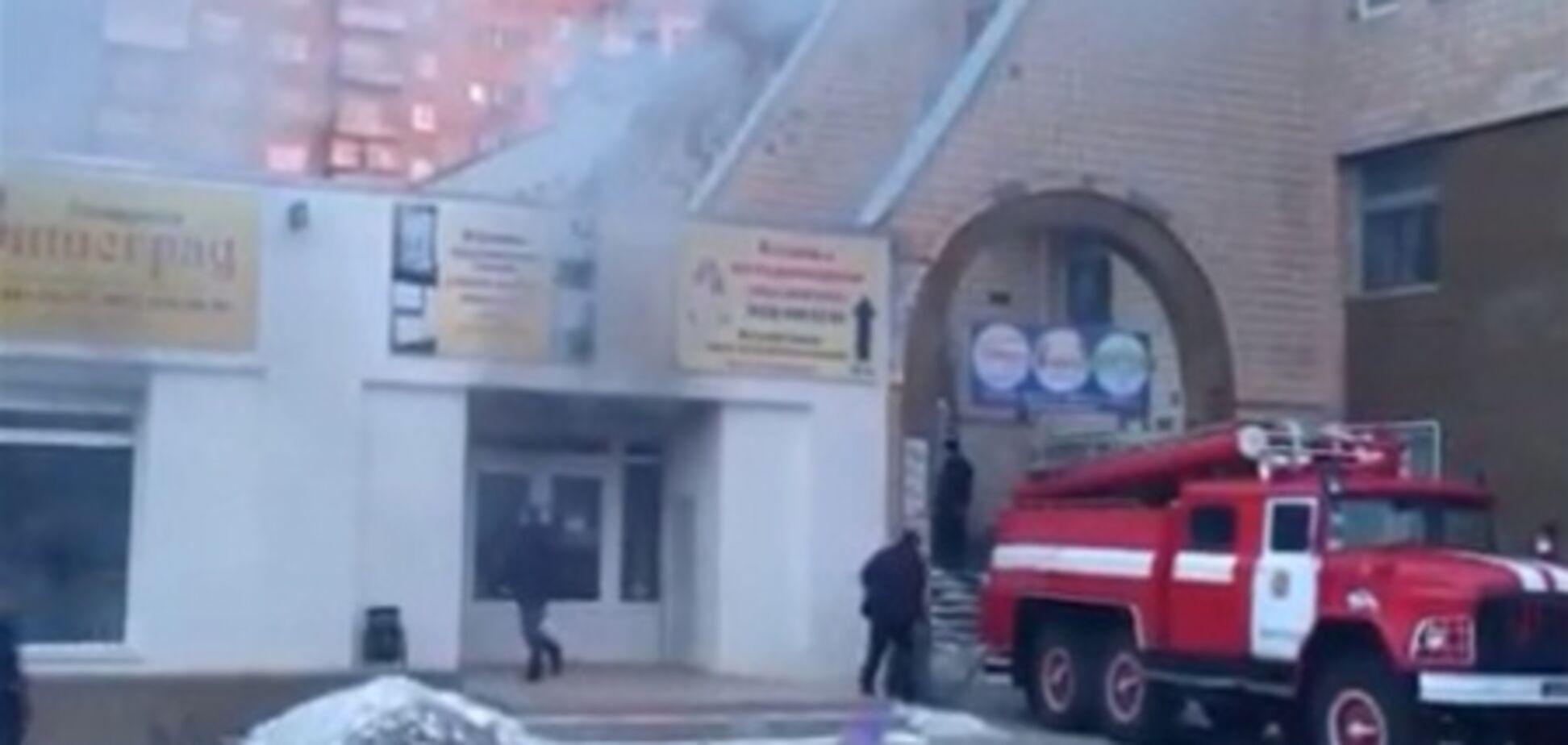В Вышгороде дважды взорвался супермаркет. Видео