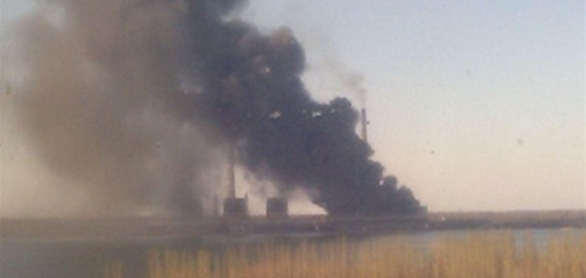 Пожар на Углегорской ТЭС охватил 1,5 тыс. кв. м