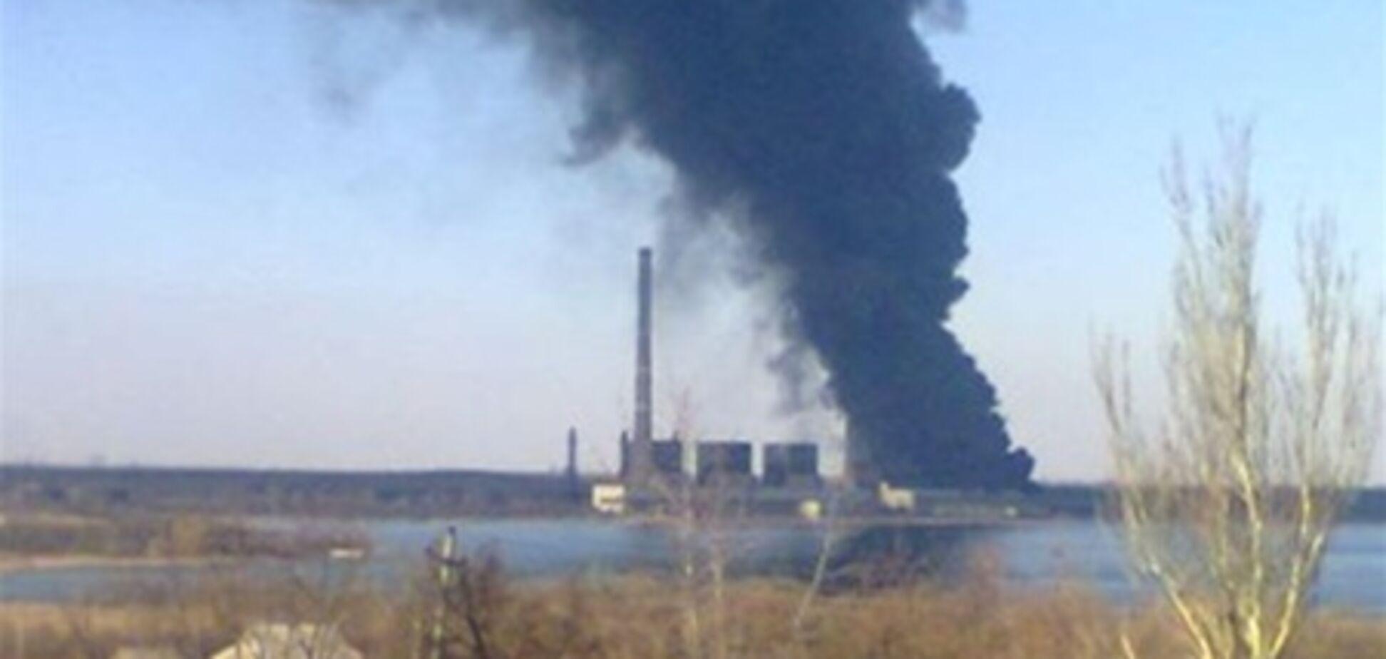 Горит Углегорская ТЭС. Фото. Видео