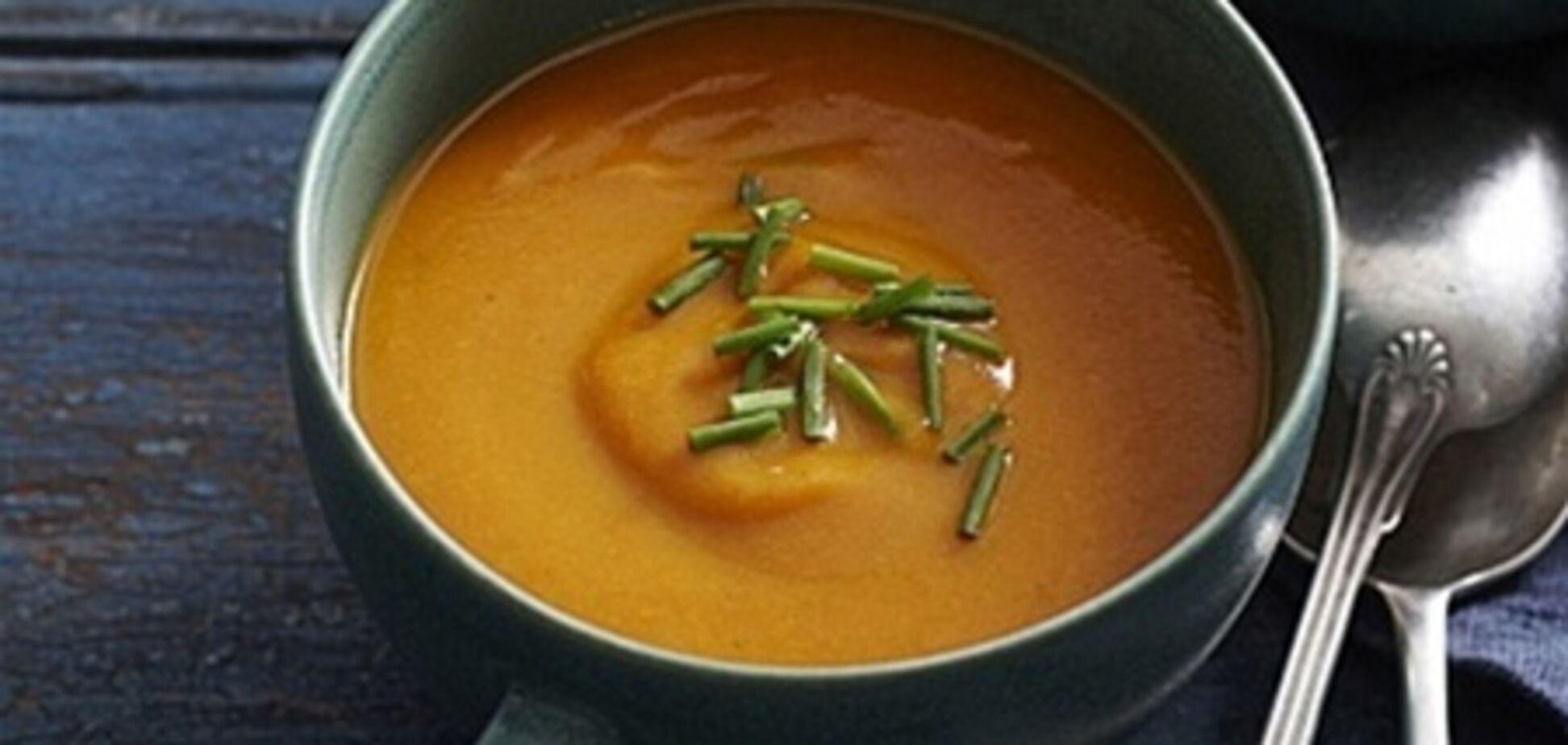 Суп-пюре из запеченной моркови