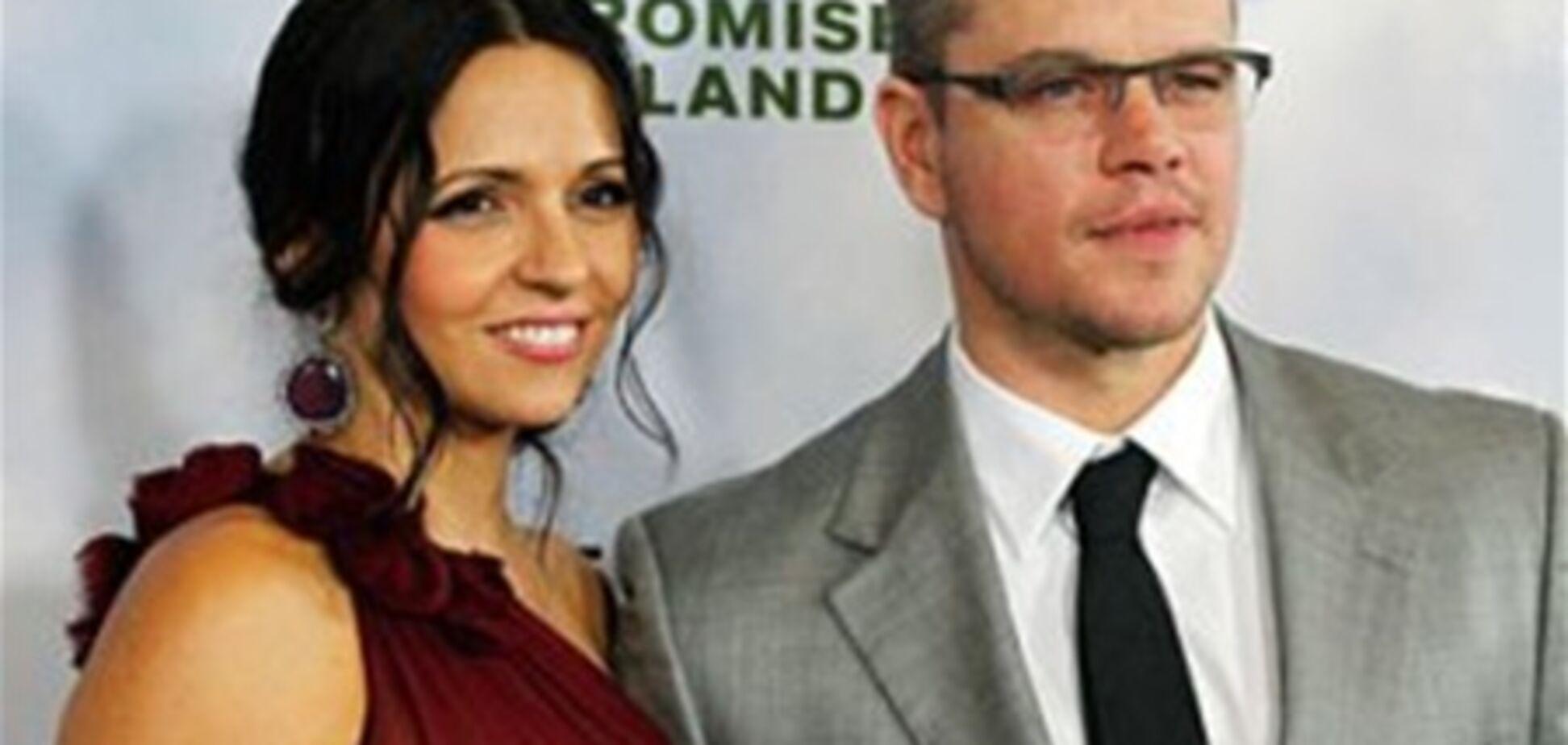 Метт Деймон вдруге одружився на своїй дружині