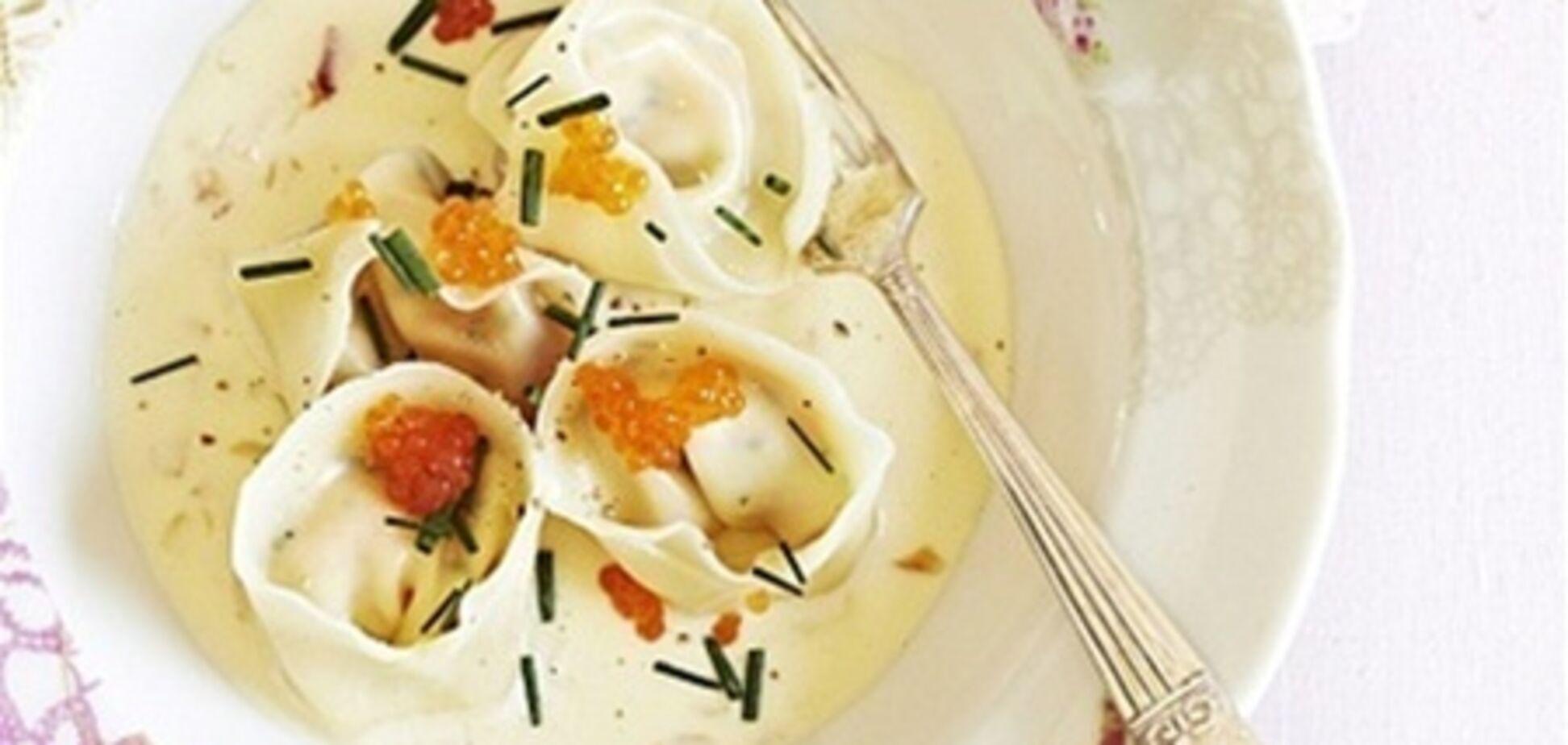 Тортеллини с лососем