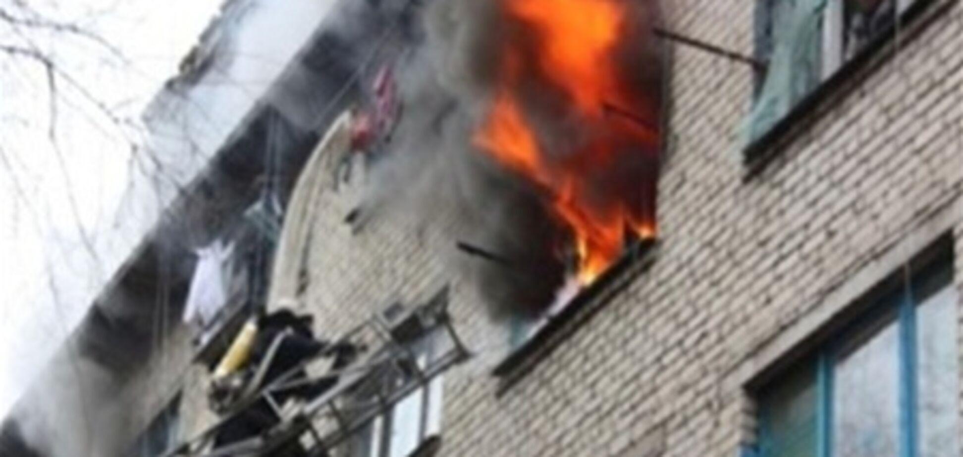 В Киеве горело общежитие, 20 мая 2013