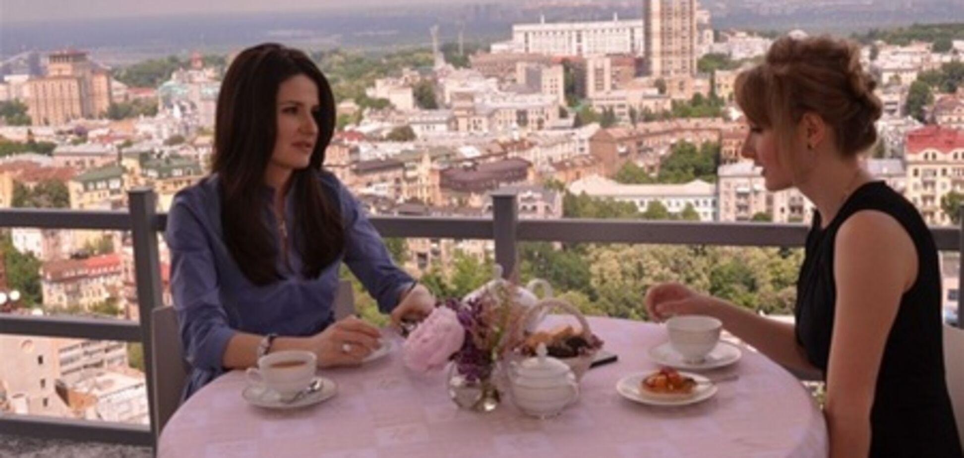 Лилия Резвая за завтраком с Березовской