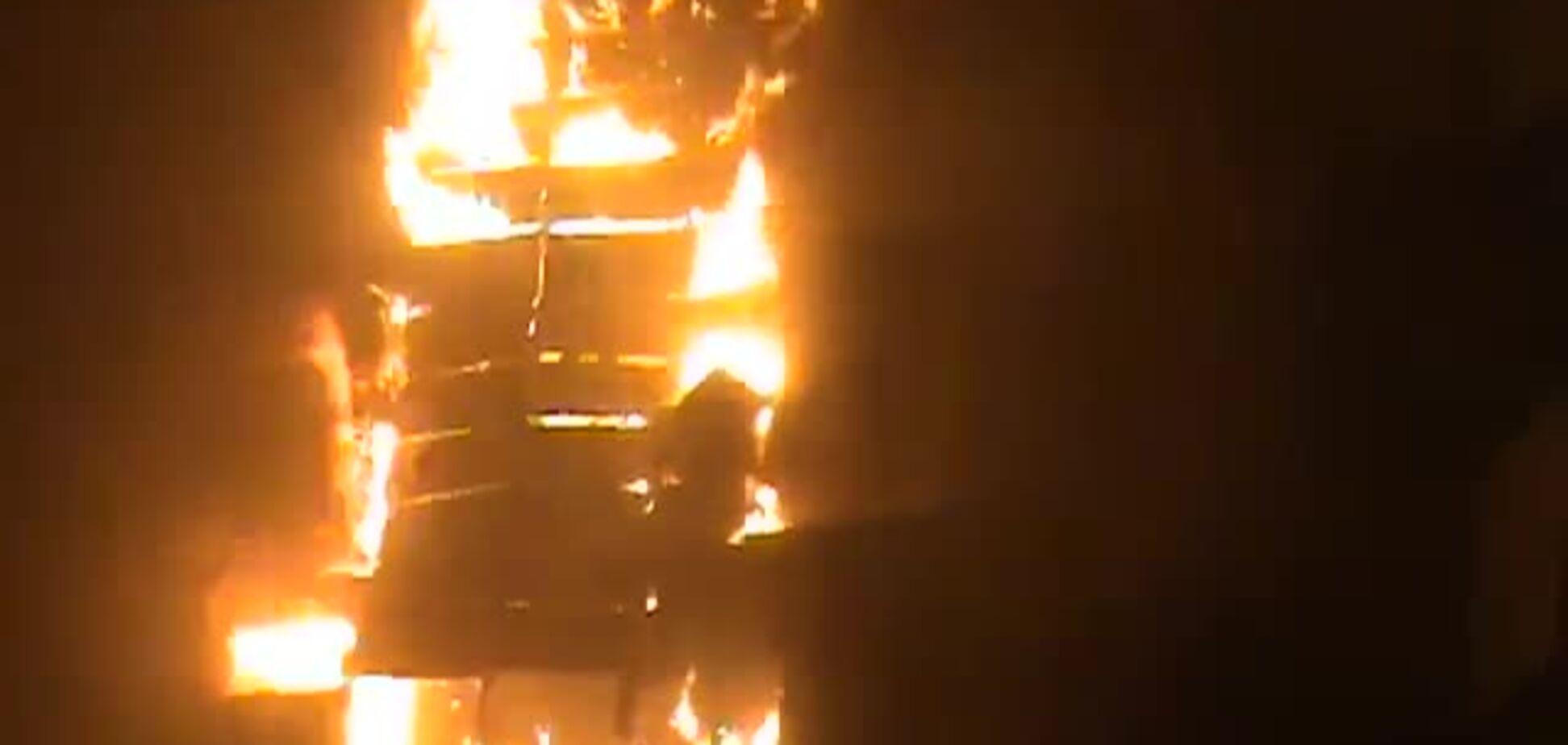 Пожар на Шулявке 30 мая 2013