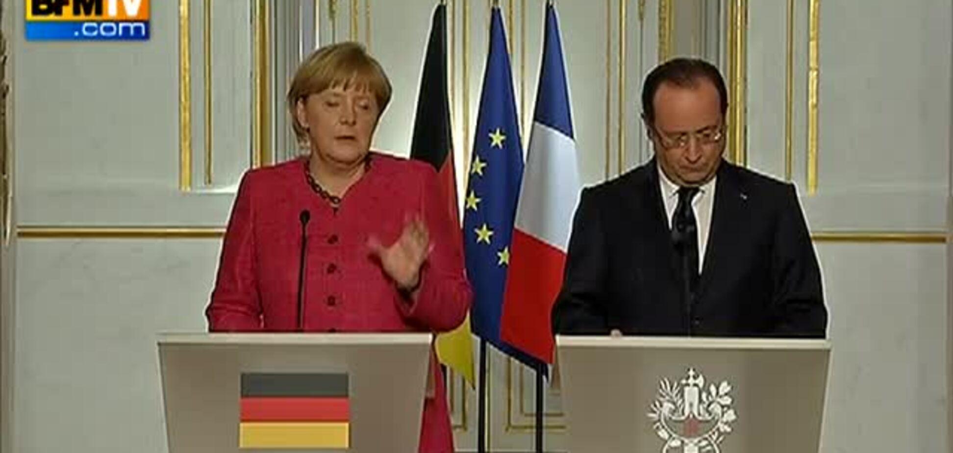 Меркель рассмешила Олланда