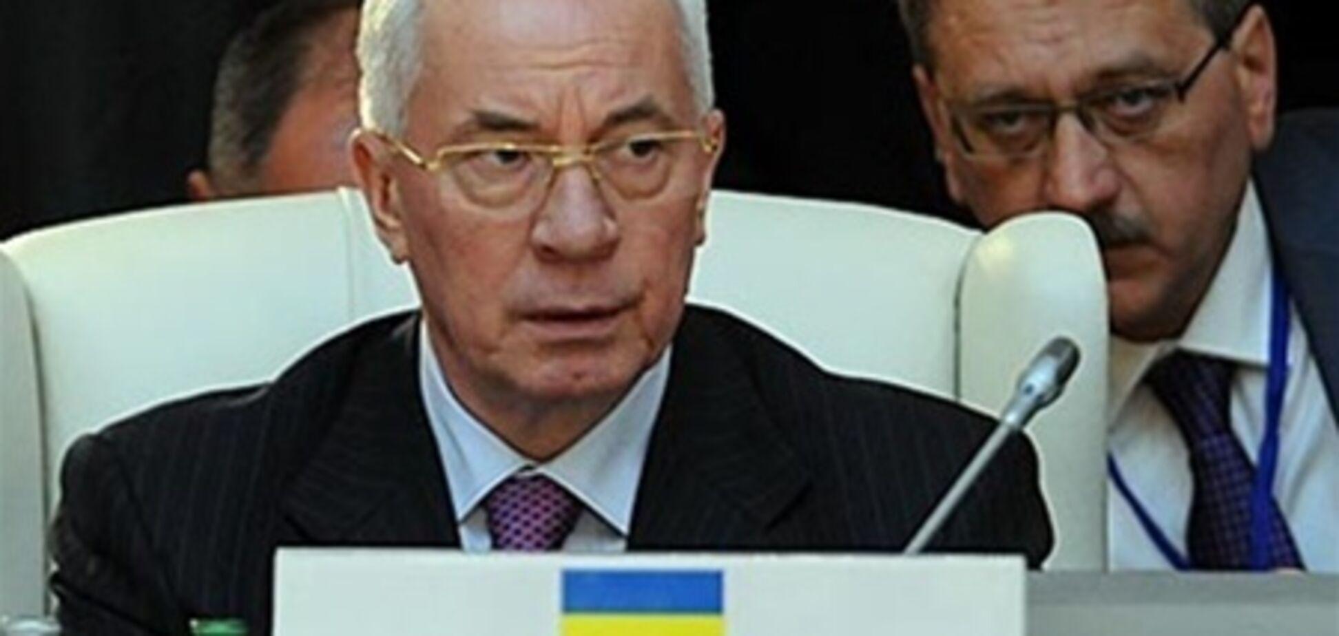 Азаров: меморандум забезпечить Україні фактичний статус спостерігача в МС