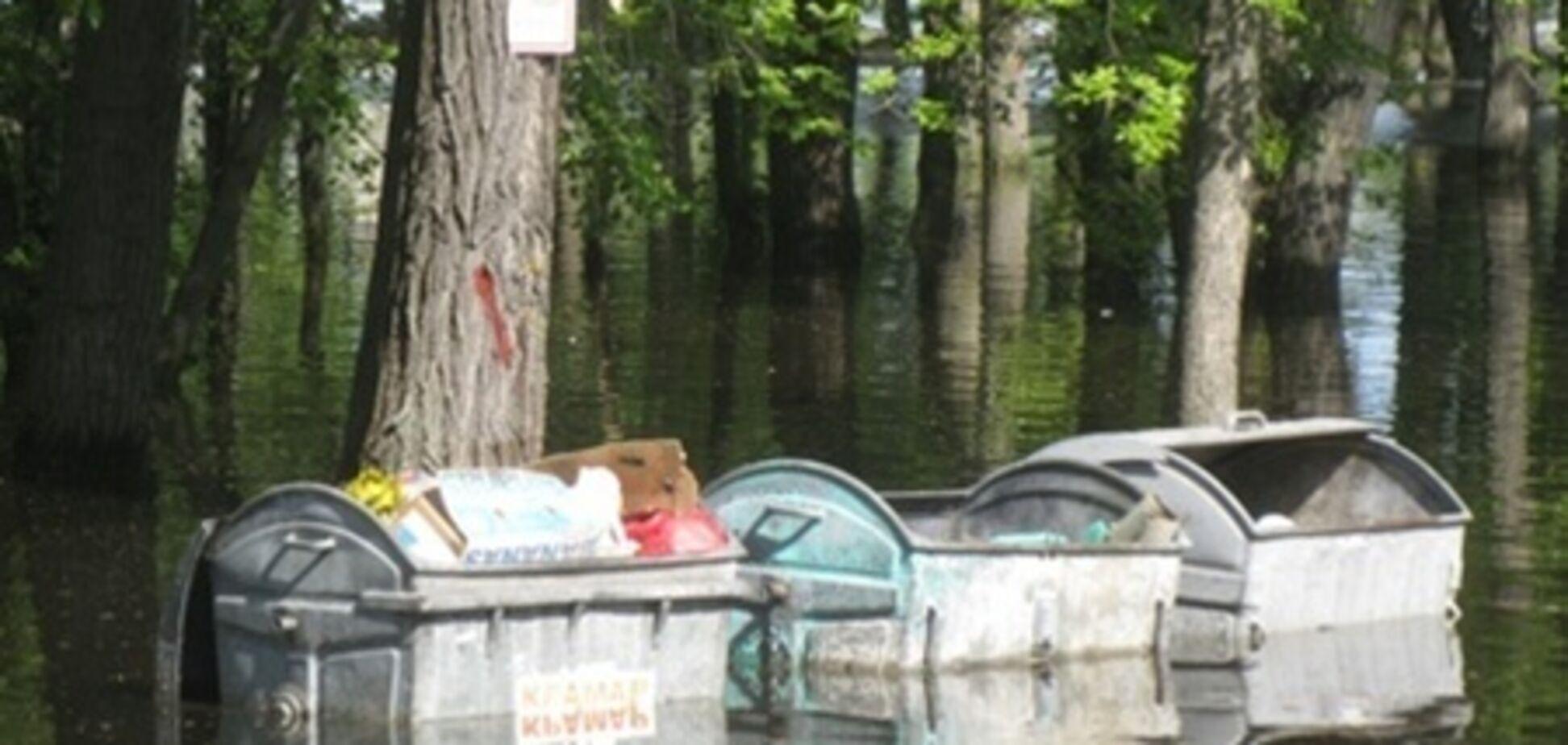 Киевский Гидропарк превратился в Венецию
