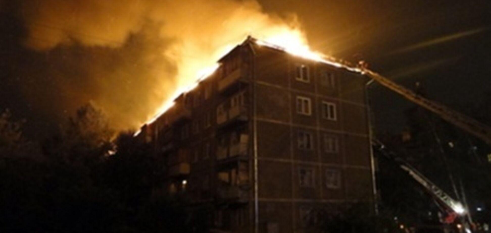 В Броварах у пятиэтажки сгорела крыша