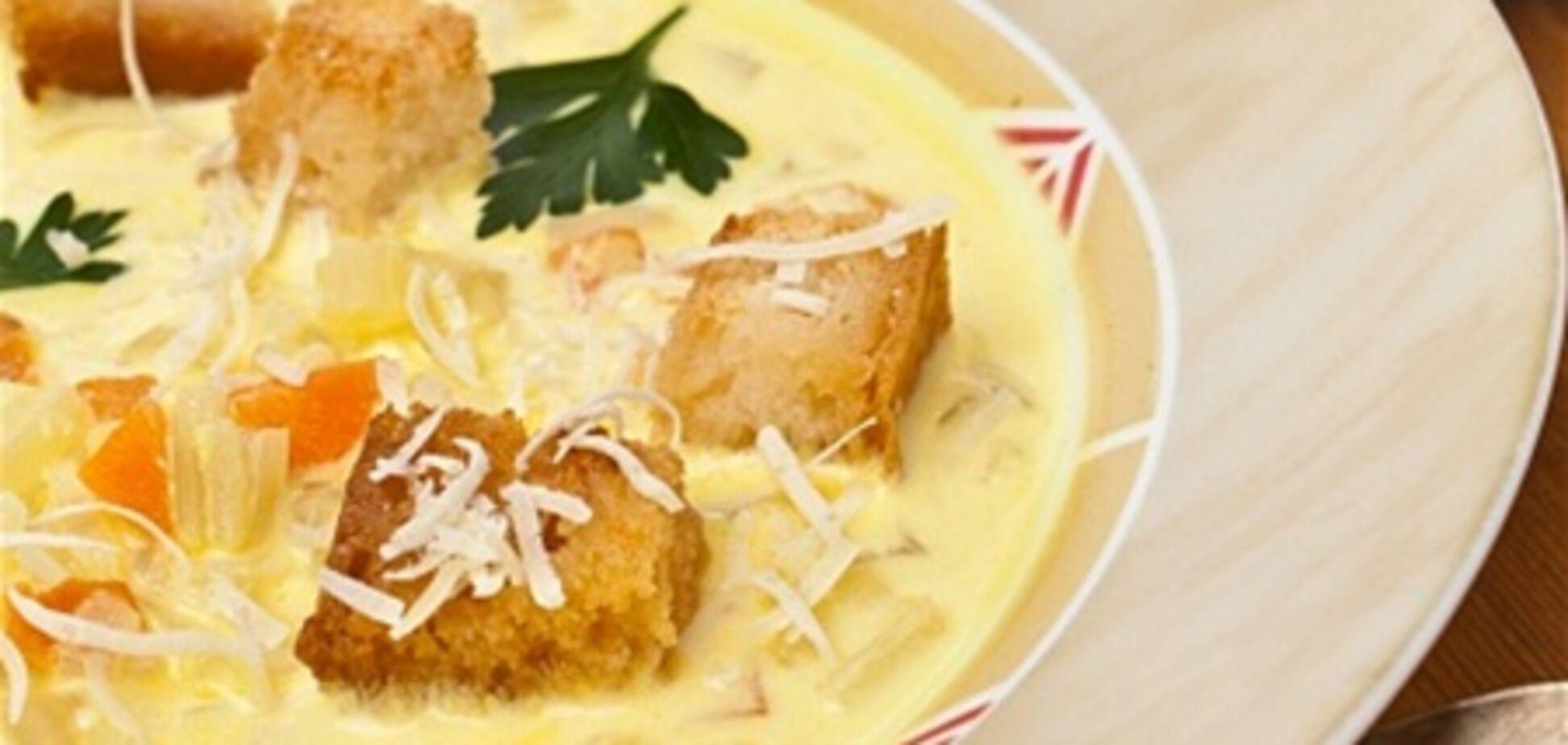 Суп-пюре из фасоли с чесноком