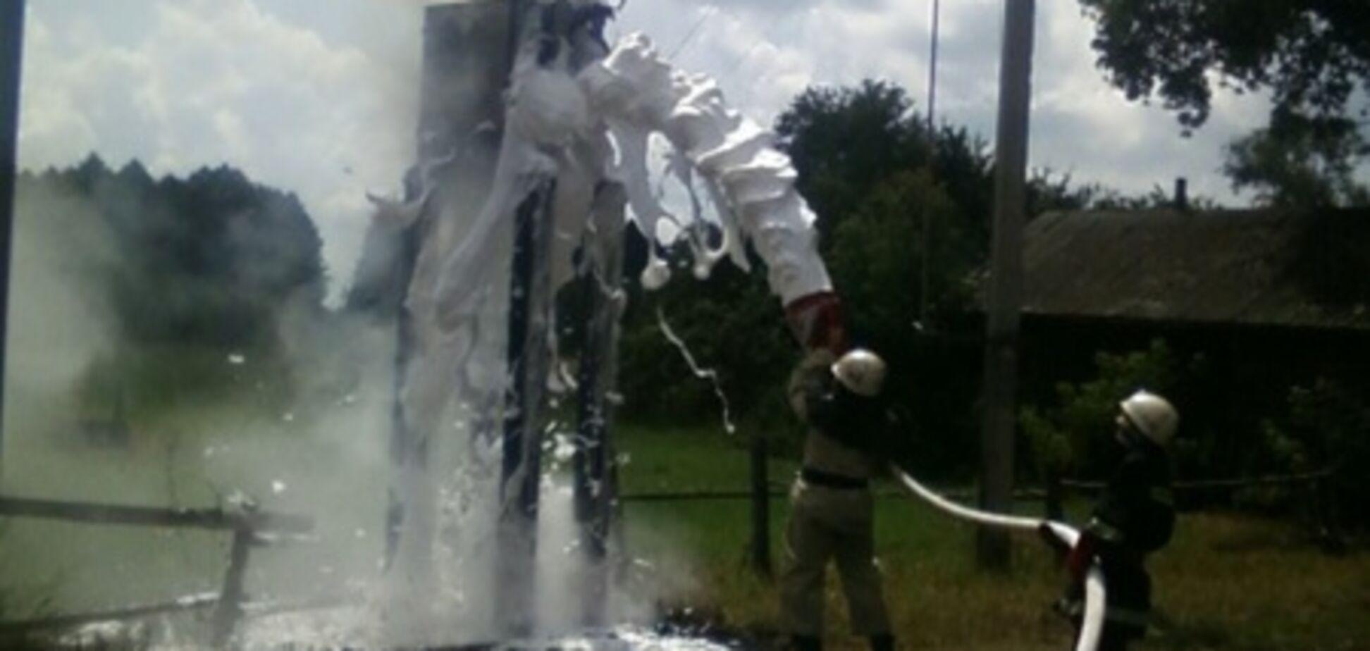 На Чернігівщині горіла трансформаторна станція
