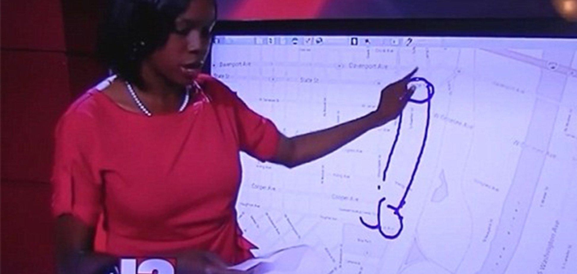 В США ведущая новостей случайно нарисовала в эфире пенис