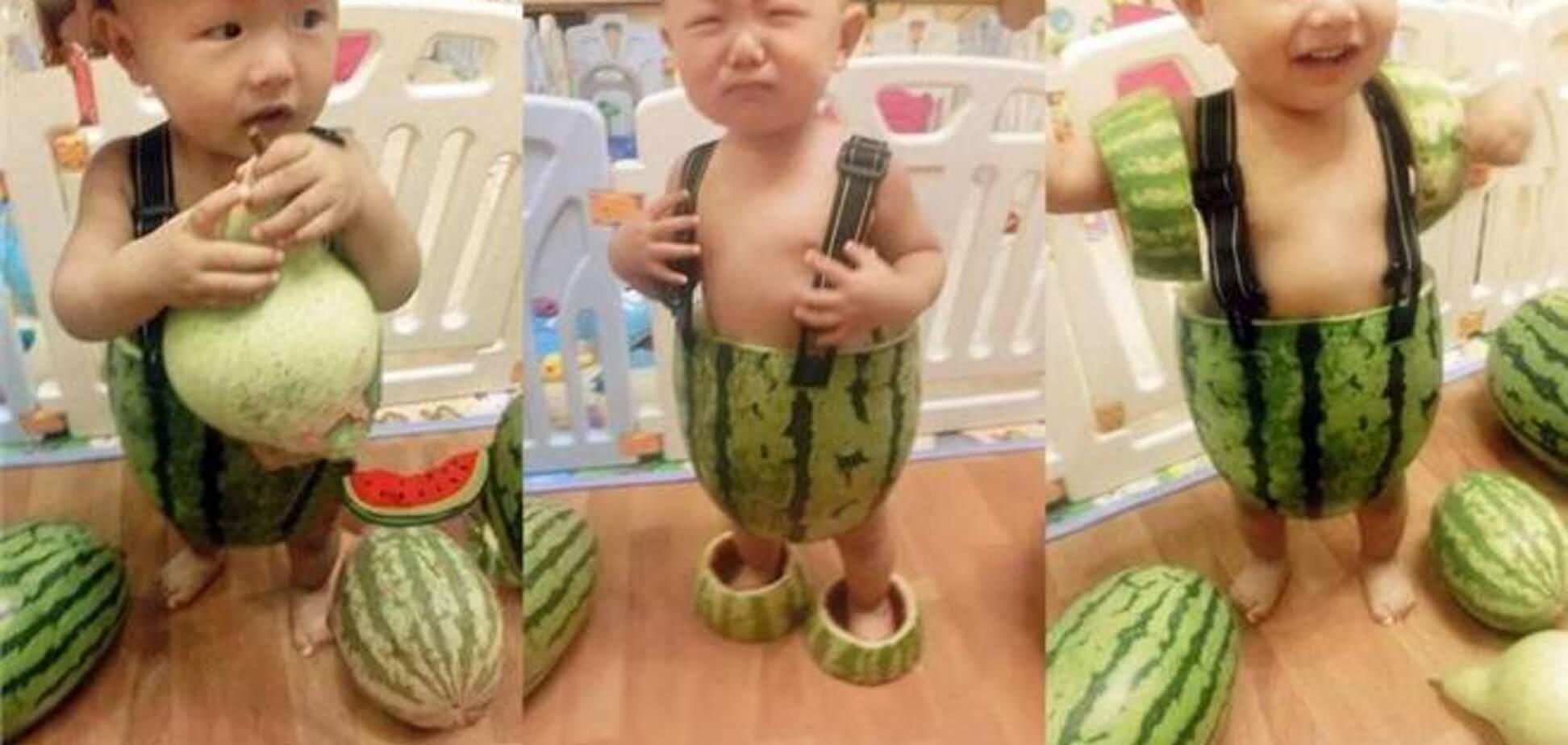 Китайские модельеры создали детскую одежду из арбузных корок