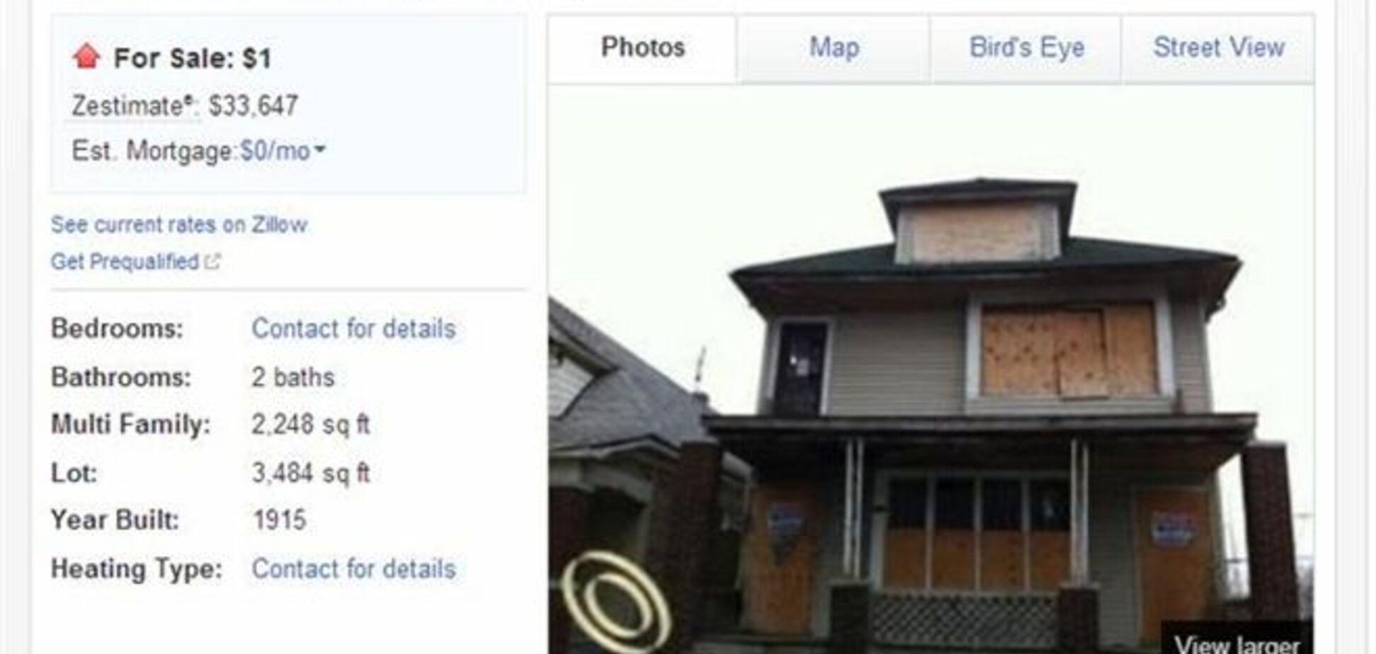 В Детройте продаются дома по цене в один доллар