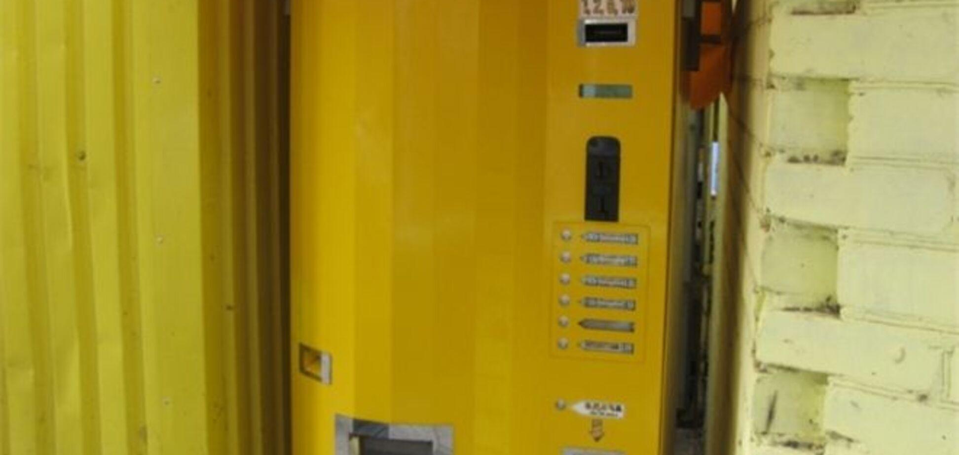 На Запорожье установили автомат по разливу водки