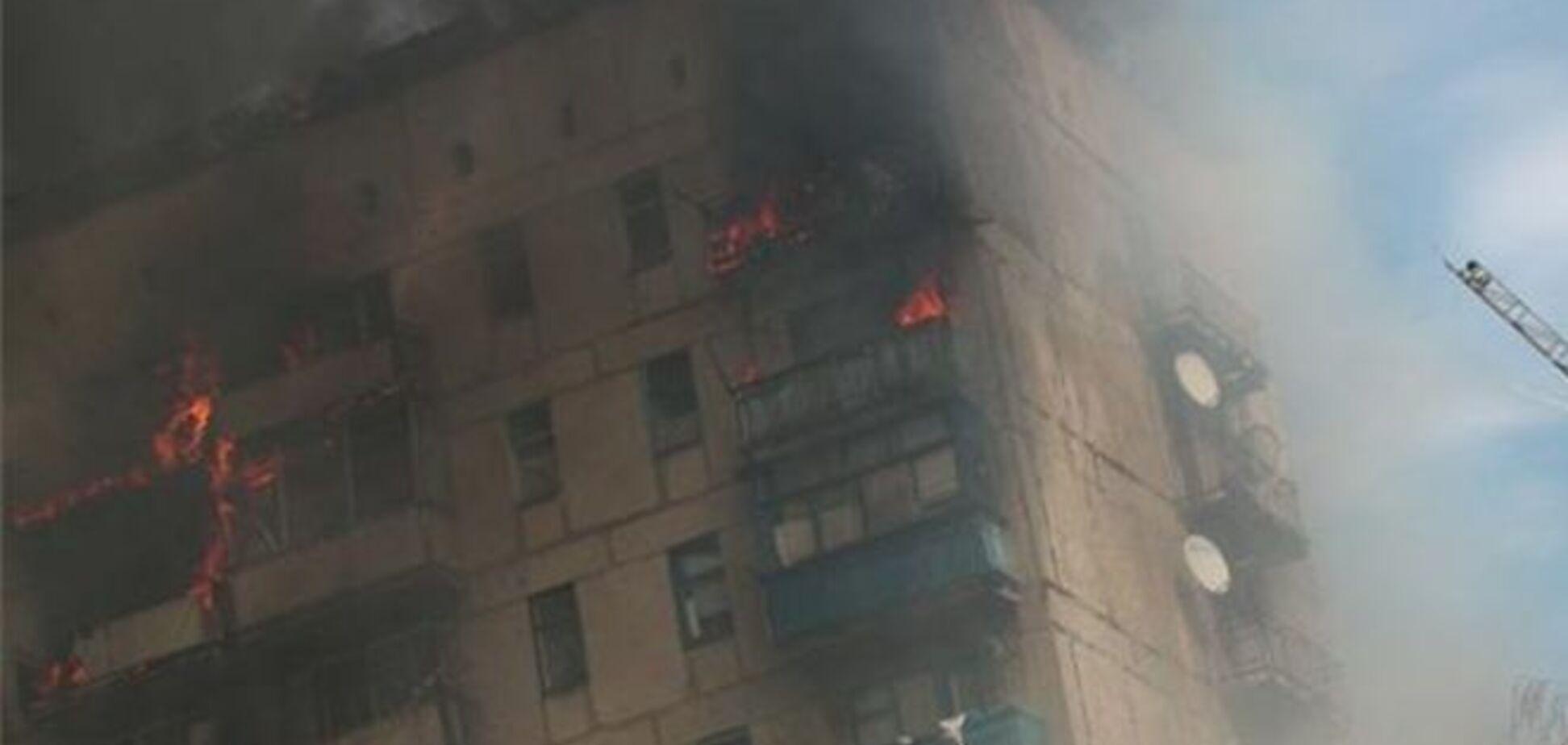 Рятувальники вважають, що люди даремно вистрибнули з вікна палаючої висотки в Макіївці