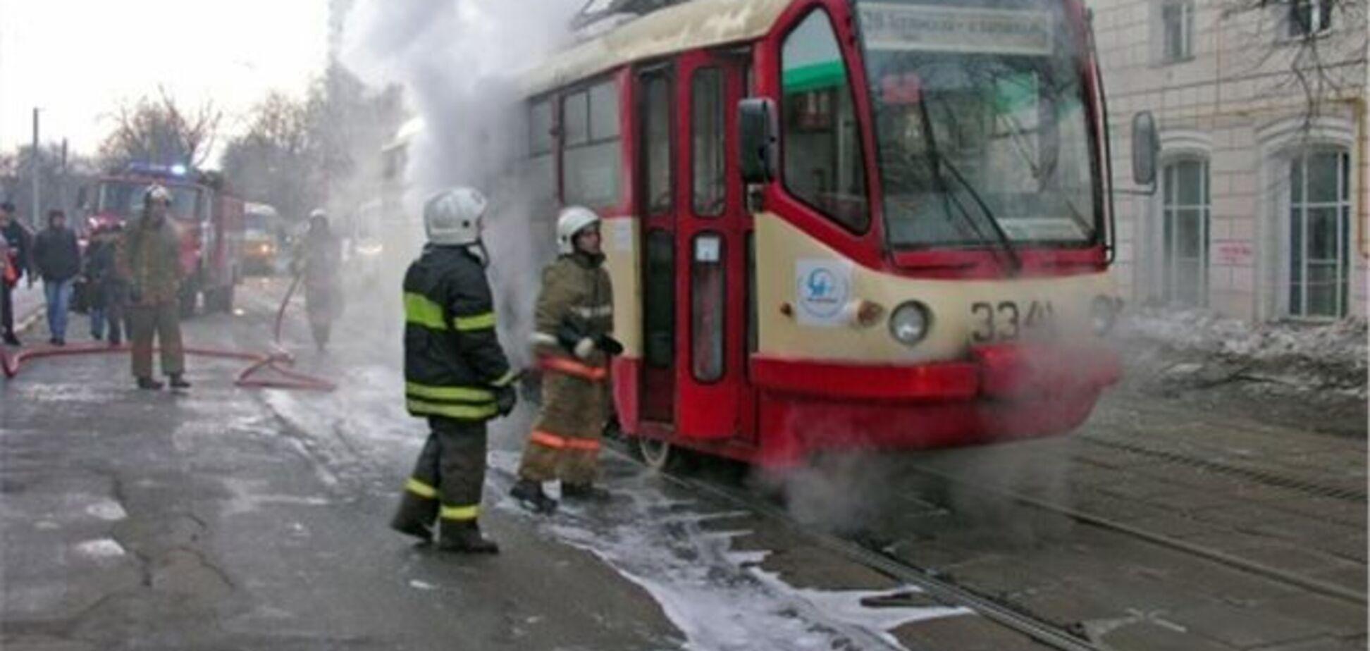 У Донецьку горів трамвай