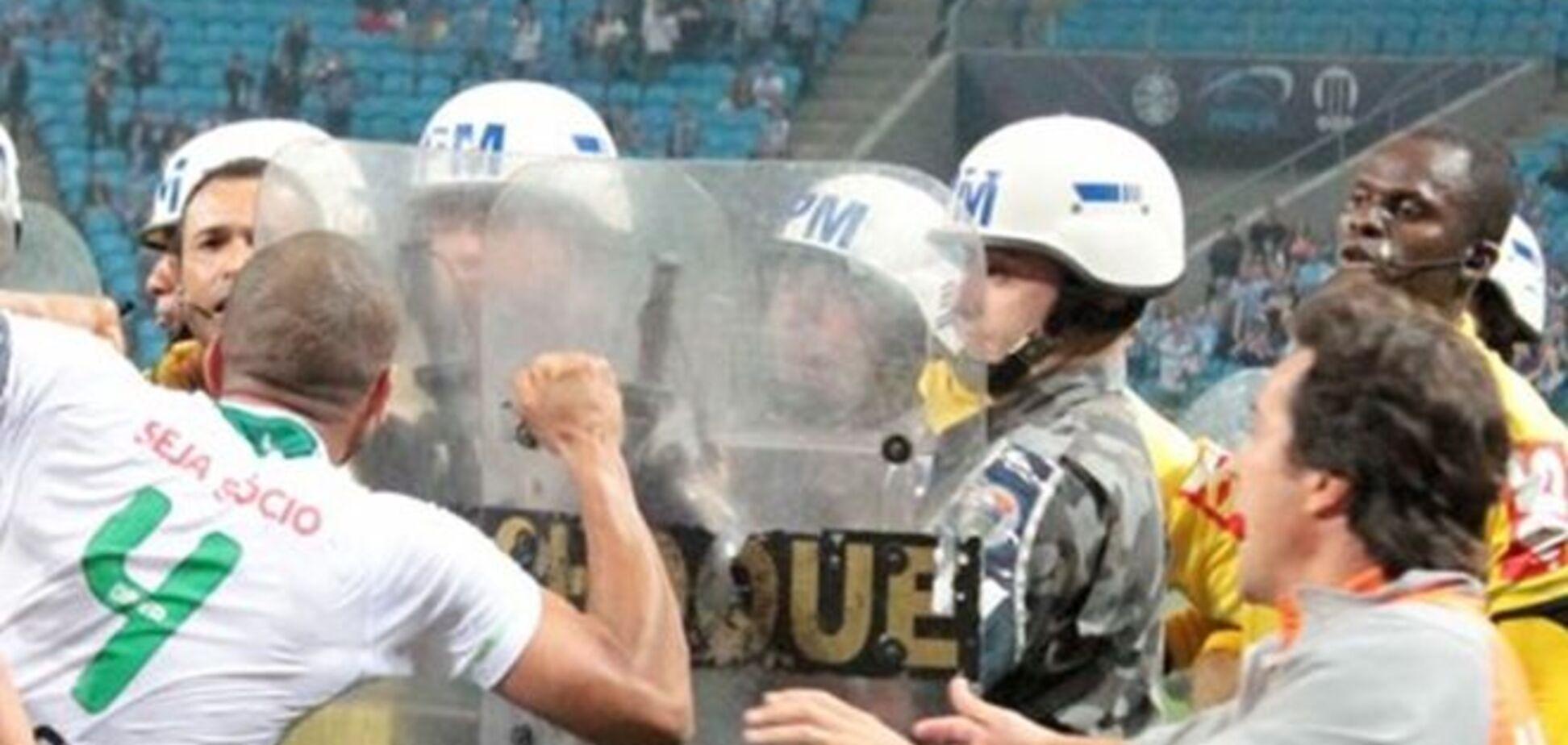 Бразильский спецназ спас арбитра от расправы футболистов
