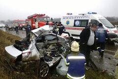 Лобовое ДТП на Донетчине: иномарка влетела в 'скорую'
