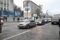 С Европейской площади уехали машины майдановцев и сторонников ПР