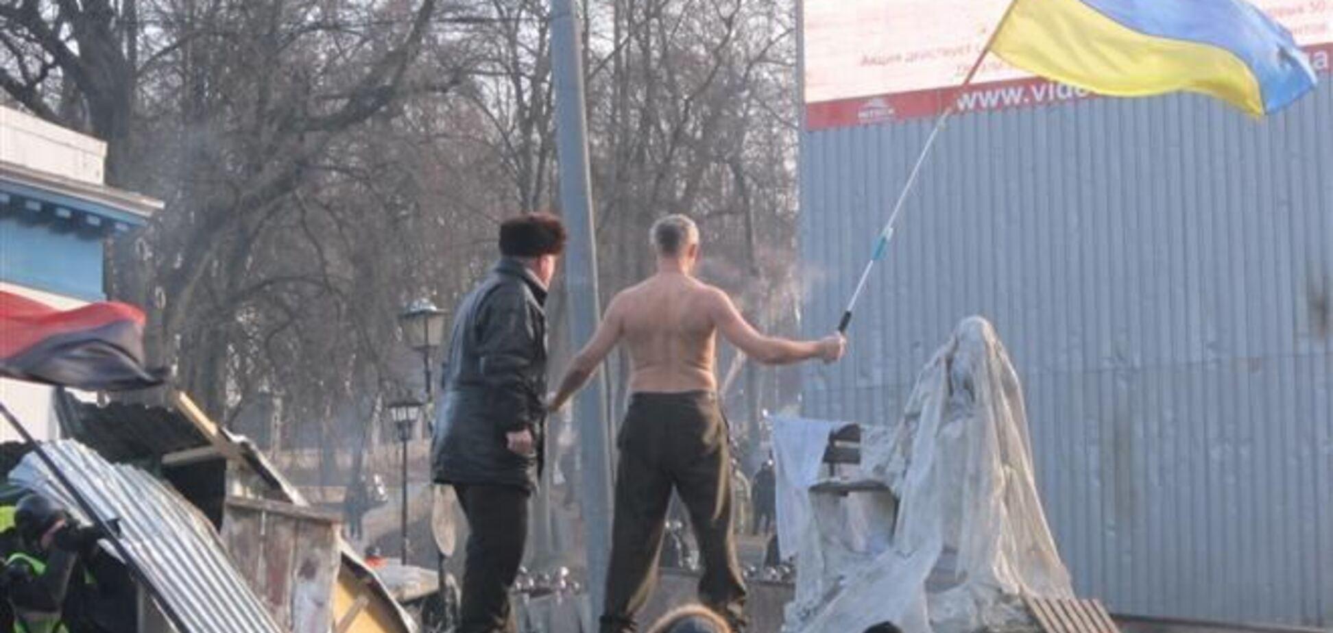 Митингующие против спецназа: противостояние в центре Киева продолжается