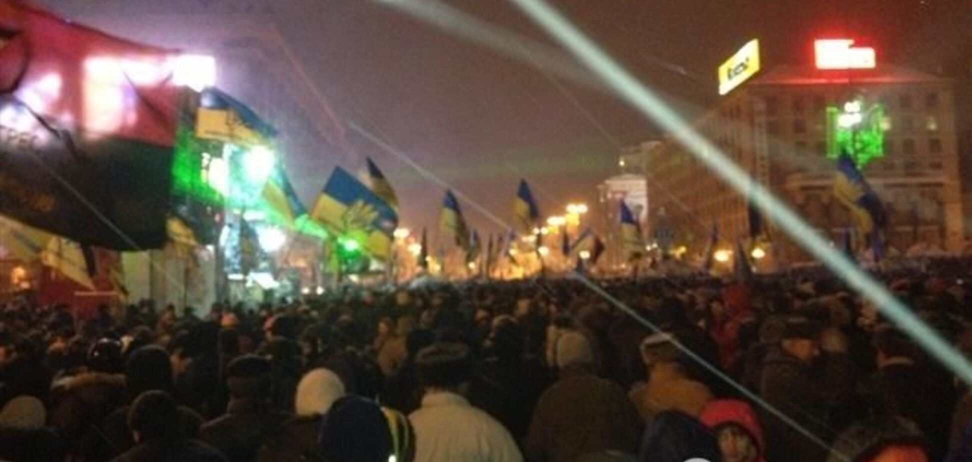 В центре Киева протестующий разбил витрину магазина