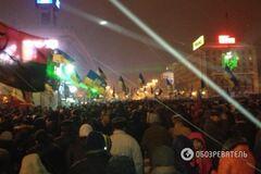 У центрі Києва протестуючий розбив вітрину магазину