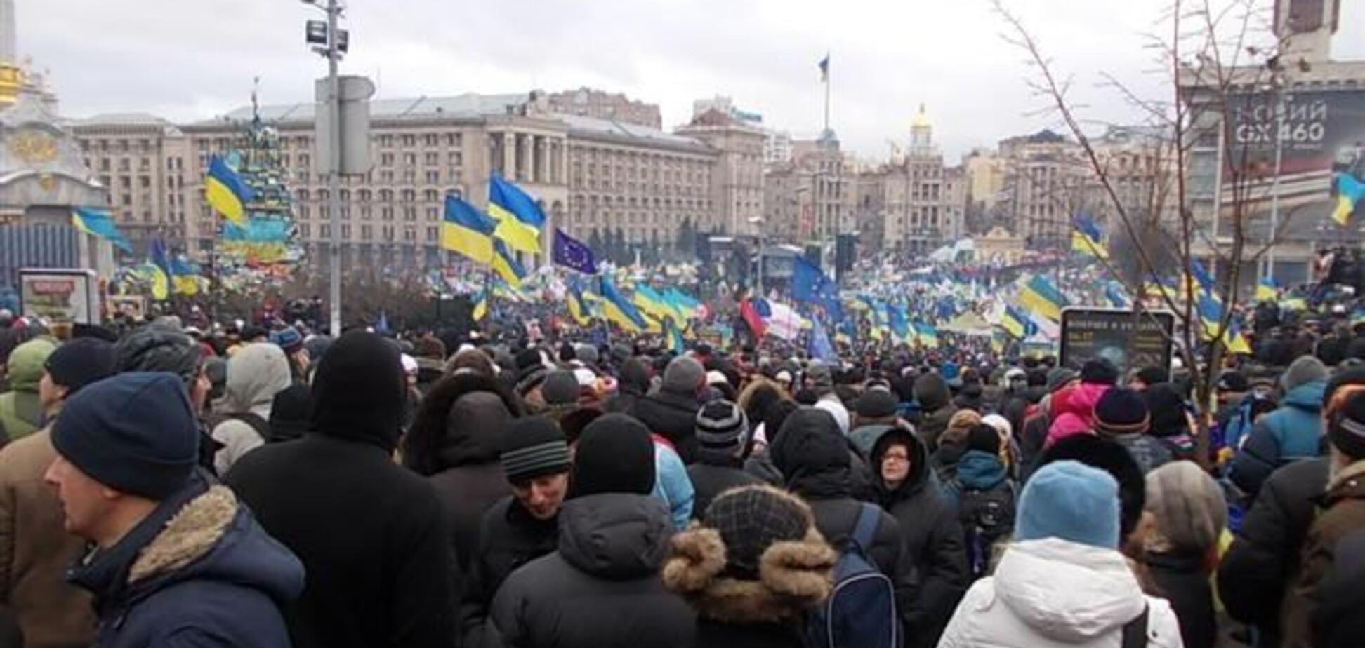 На Майдані побили студента, запідозривши в ньому провокатора - міліція