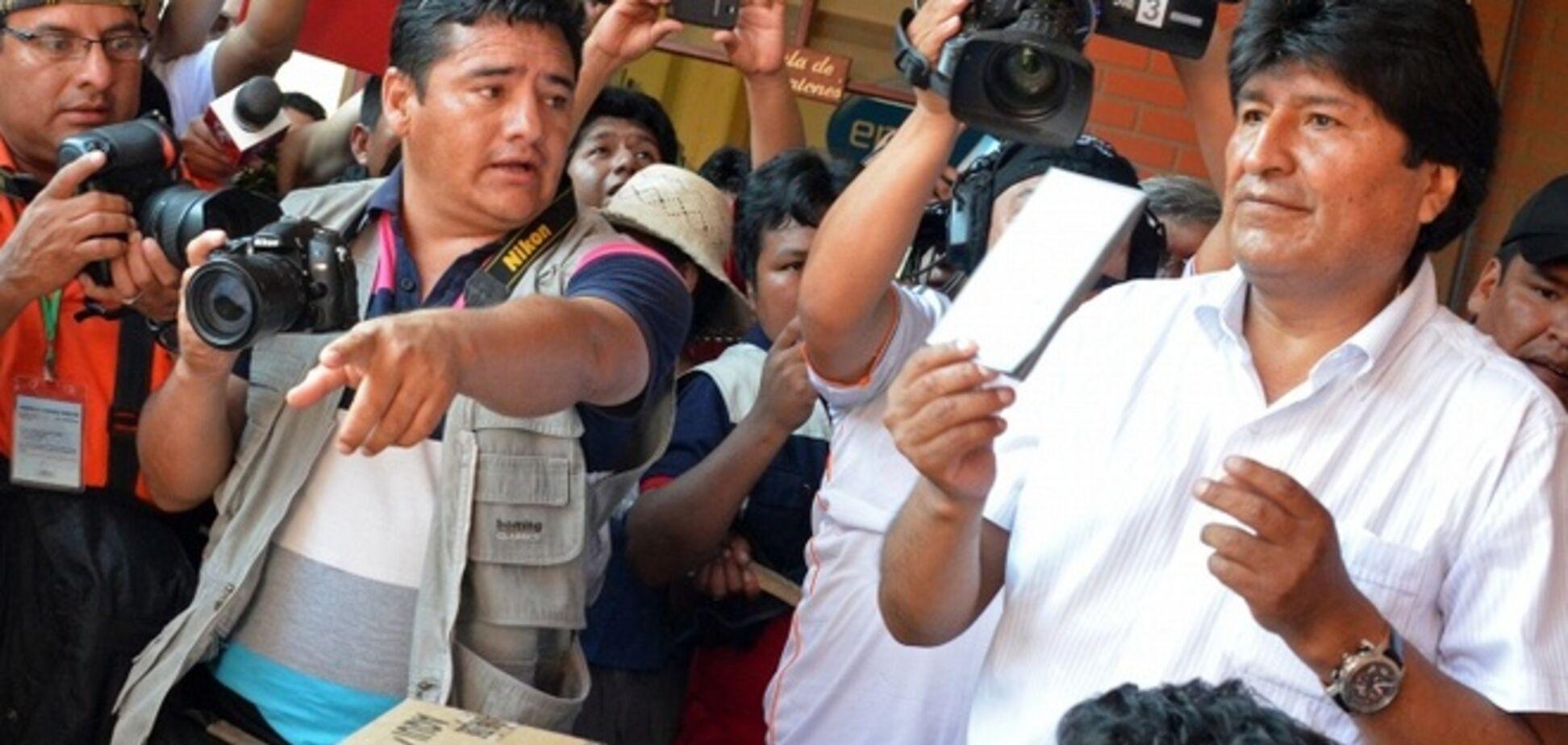 Діючий президент Болівії оголосив про свою перемогу на виборах, не чекаючи офіційних результатів