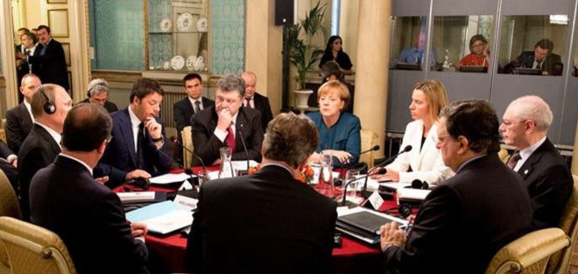 У мережі з'явилося відео сніданку Порошенка, Путіна і лідерів ЄС у Мілані